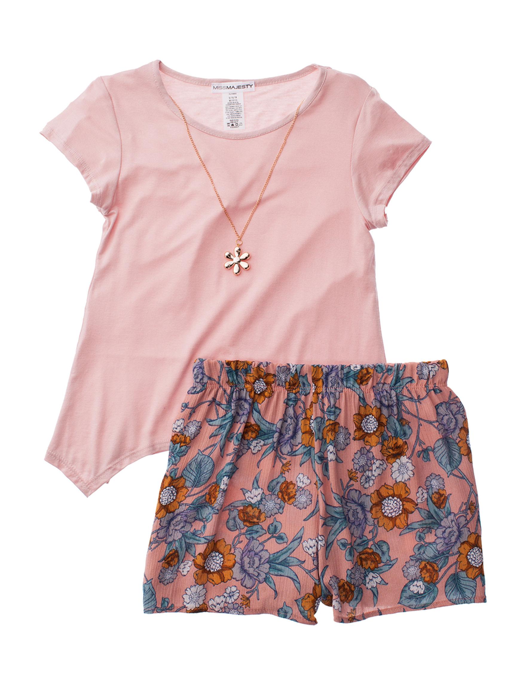 Miss Majesty Blush / Multi Soft Shorts