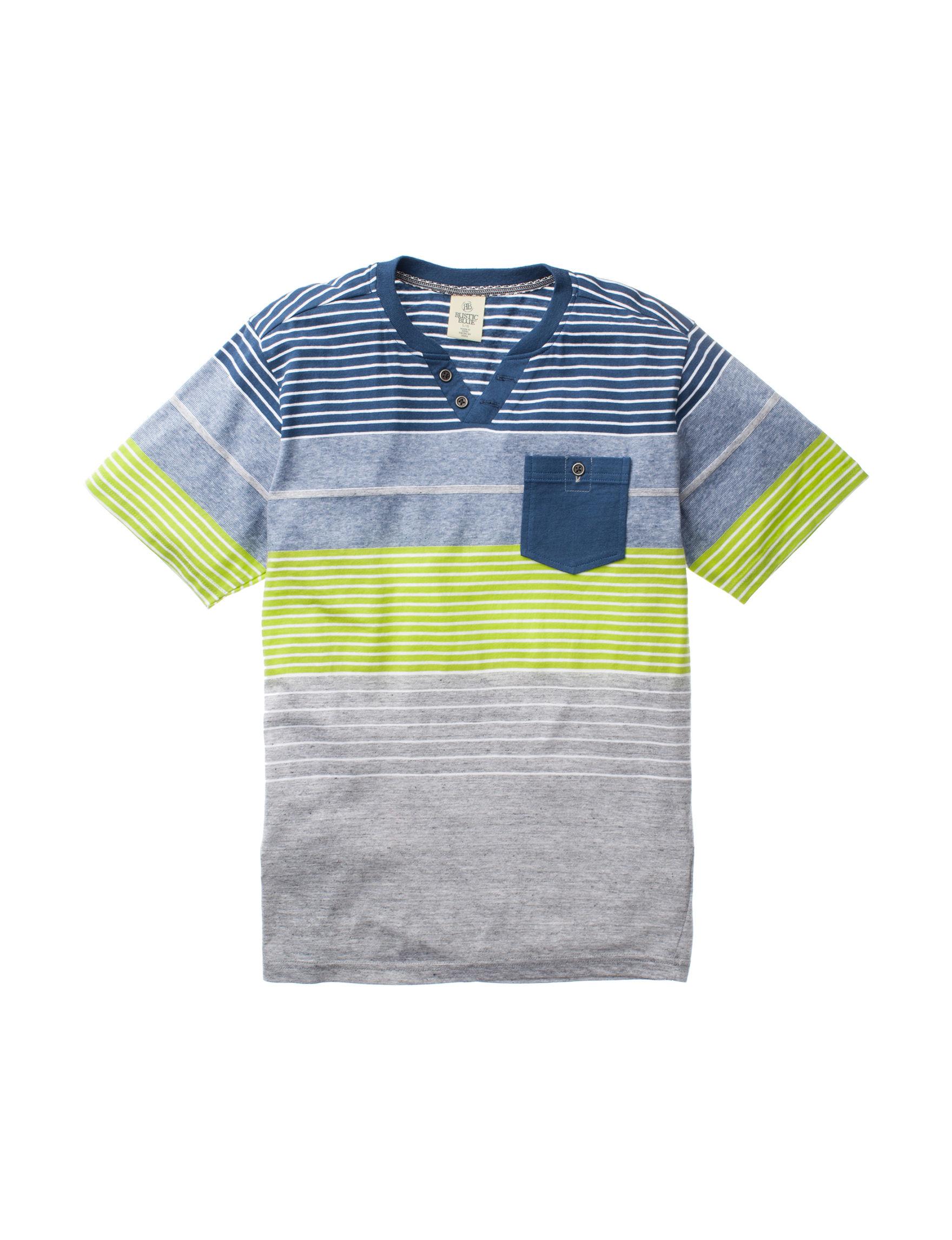 Rustic Blue Blue Stripe Tees & Tanks