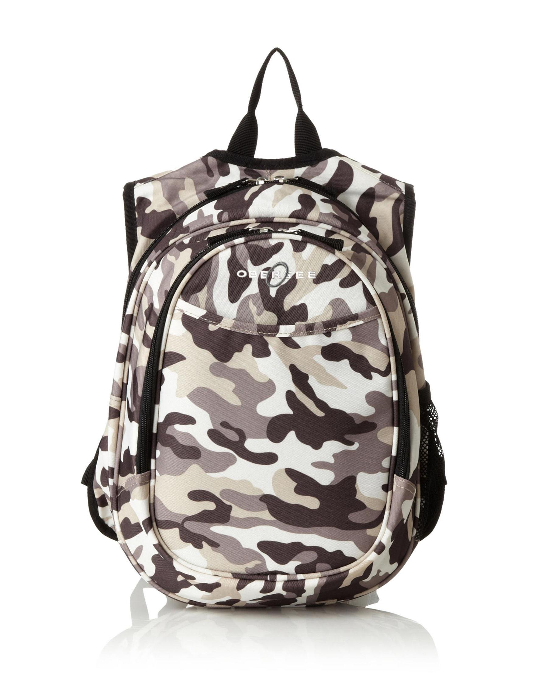 Obersee Brown Camo Bookbags & Backpacks Diaper Bags