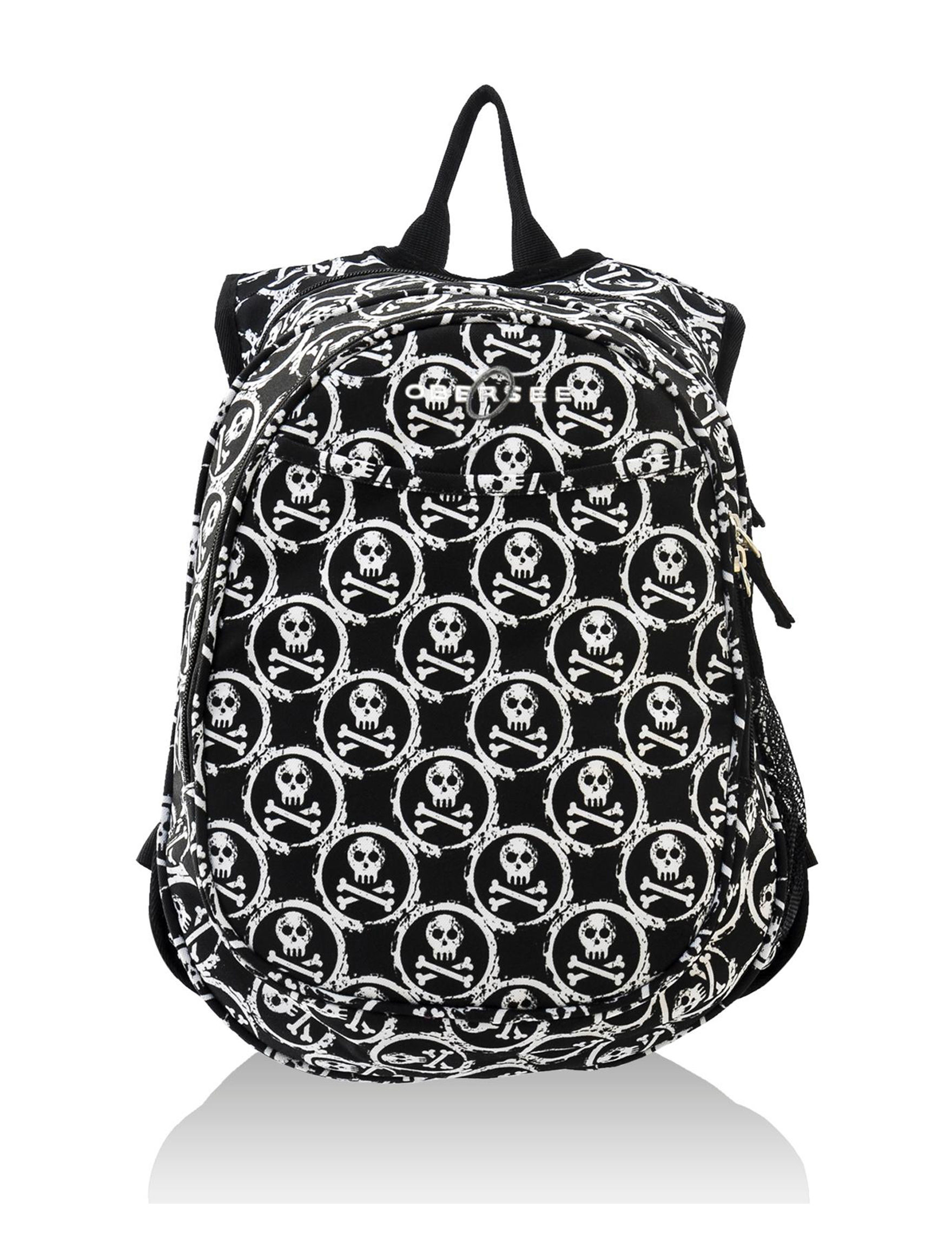 Obersee White / Black Bookbags & Backpacks Diaper Bags