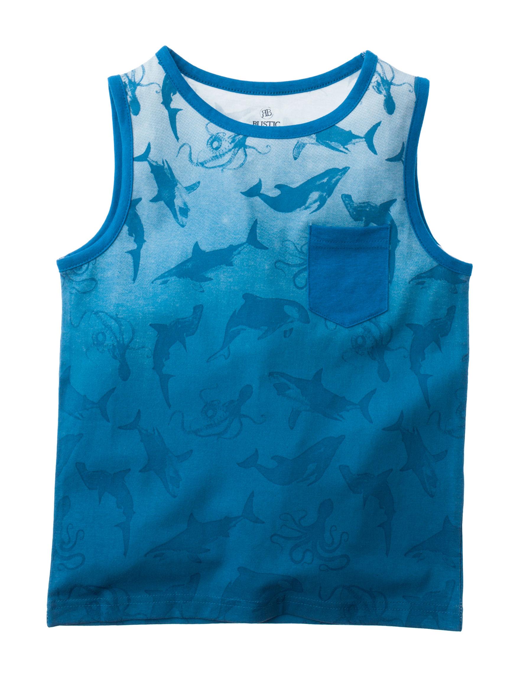 Rustic Blue Turquoise Tees & Tanks