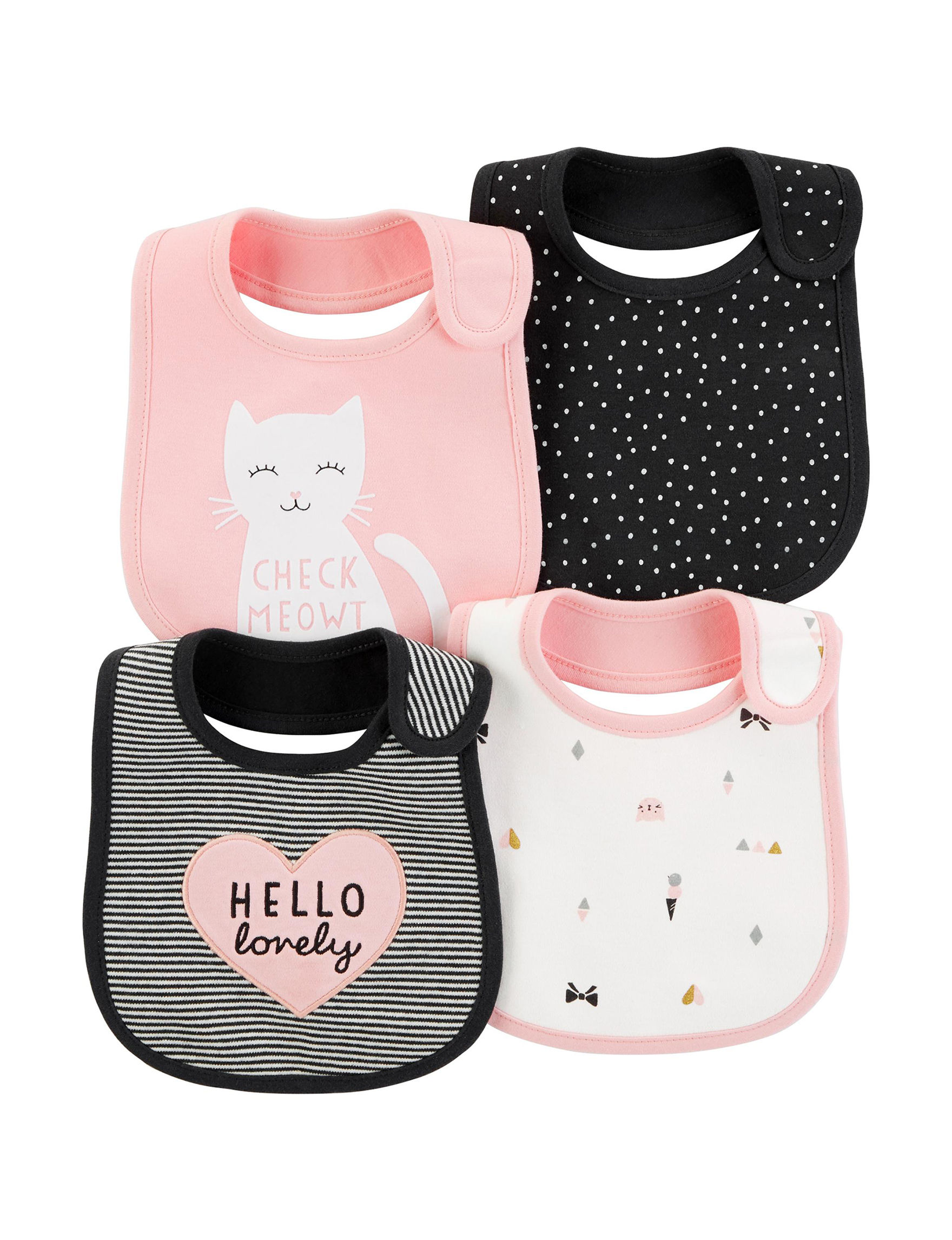 Carter's Pink Bibs & Burp Cloths