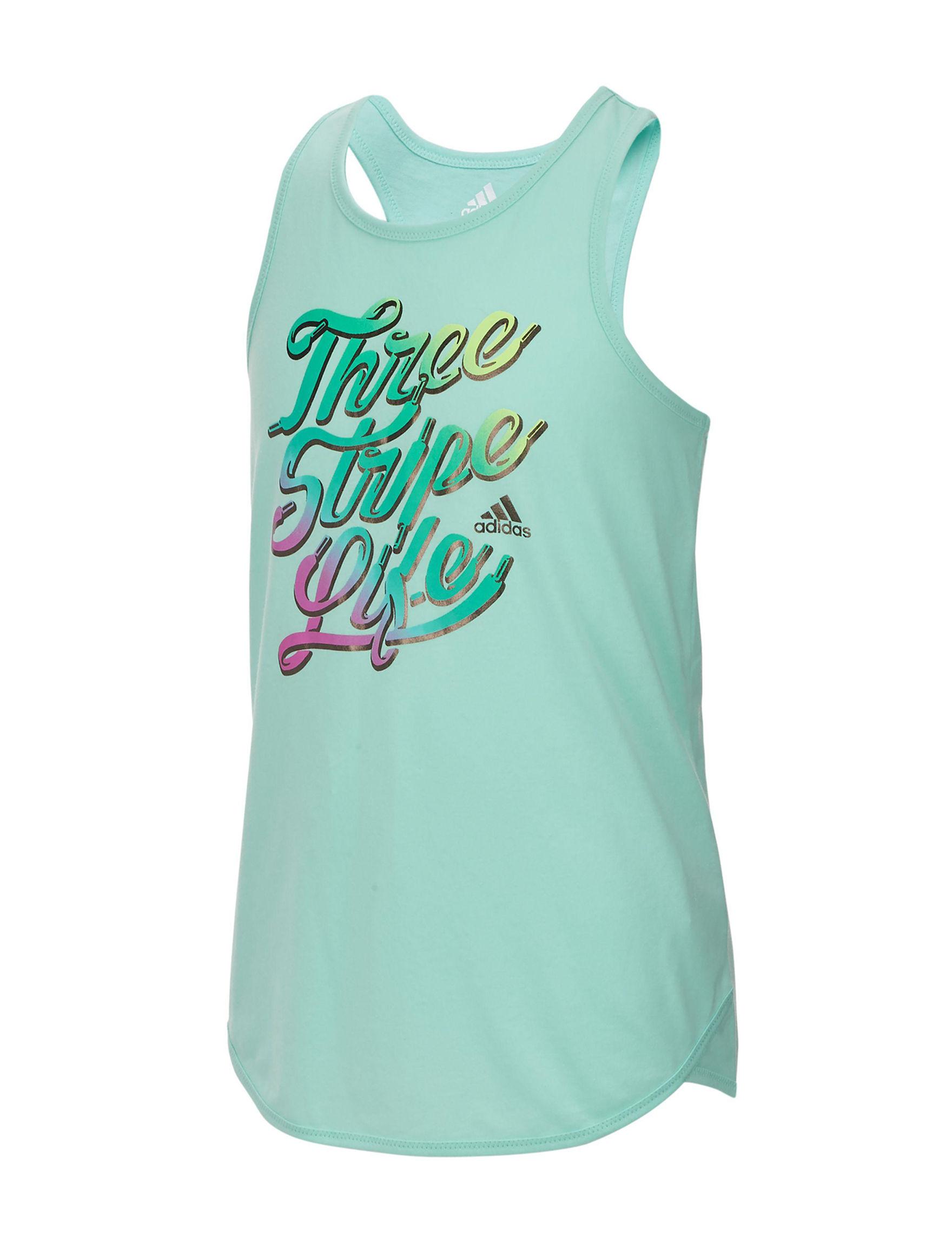 Adidas Heather Green Tees & Tanks