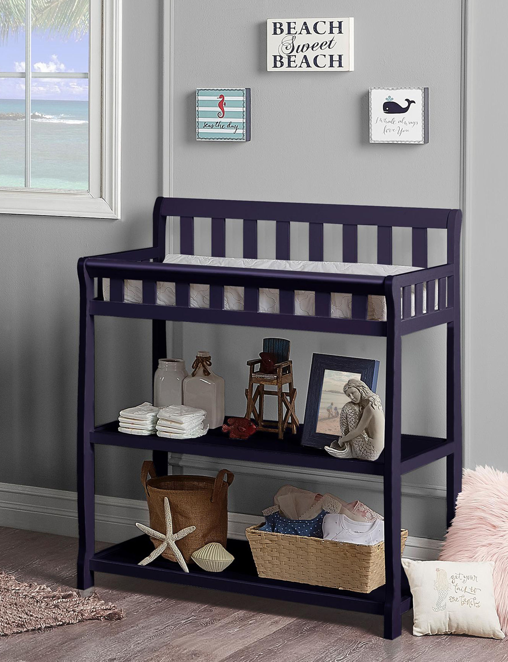 Dream On Me Navy Changing Tables Bedroom Furniture