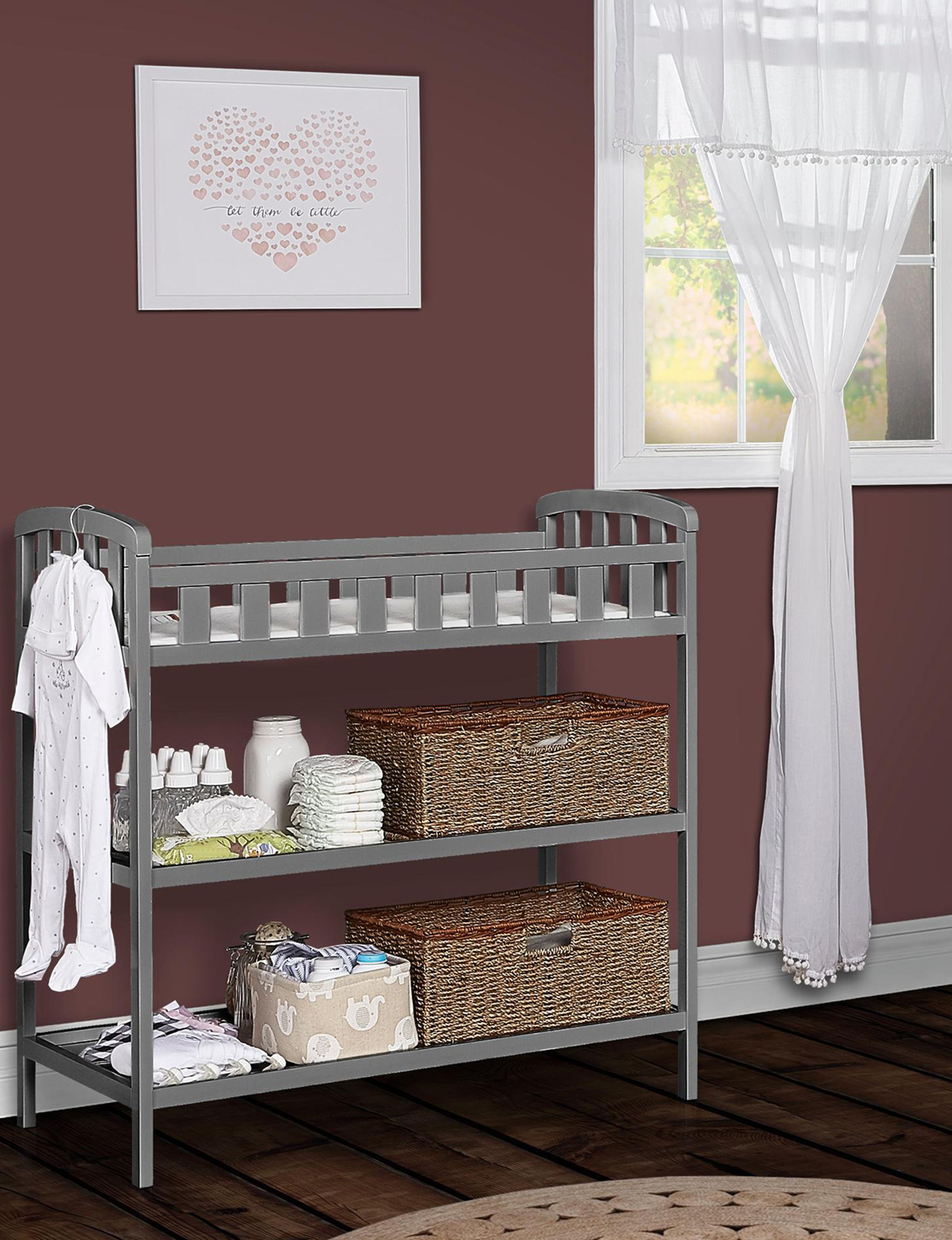 Dream On Me Steel Grey Changing Tables Bedroom Furniture