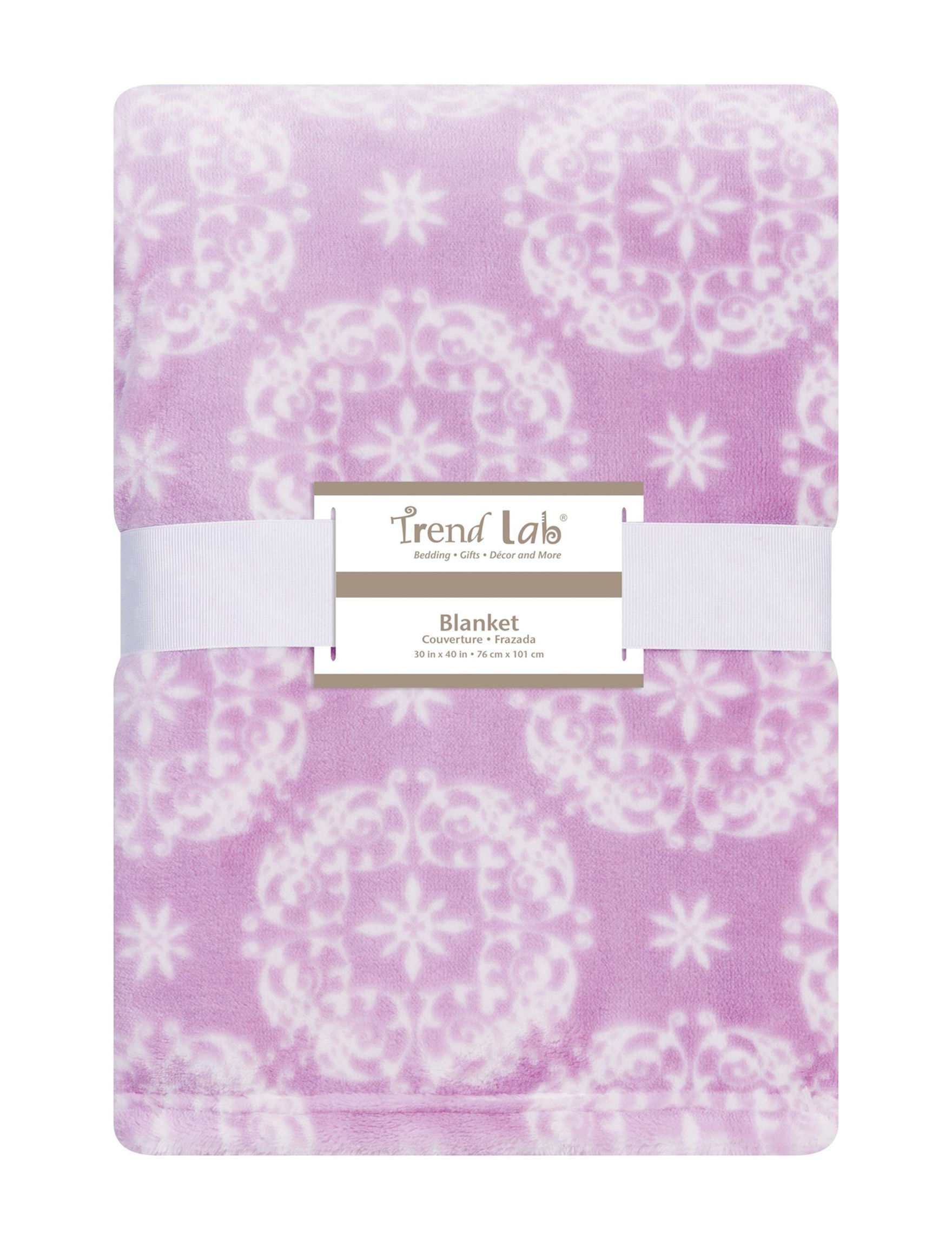 Trend Lab Purple / White