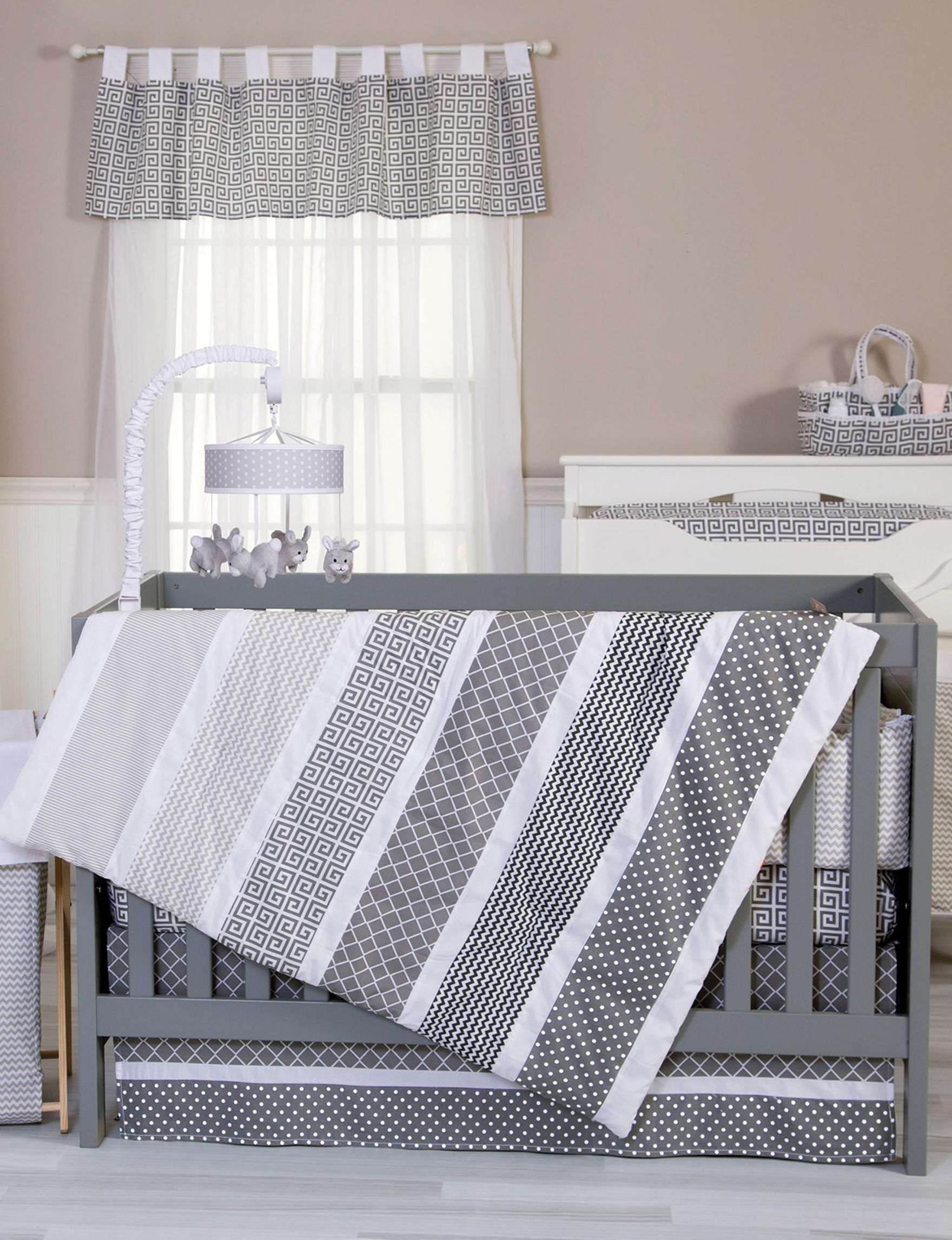 Trend Lab Grey / White Sound & Light Soothers