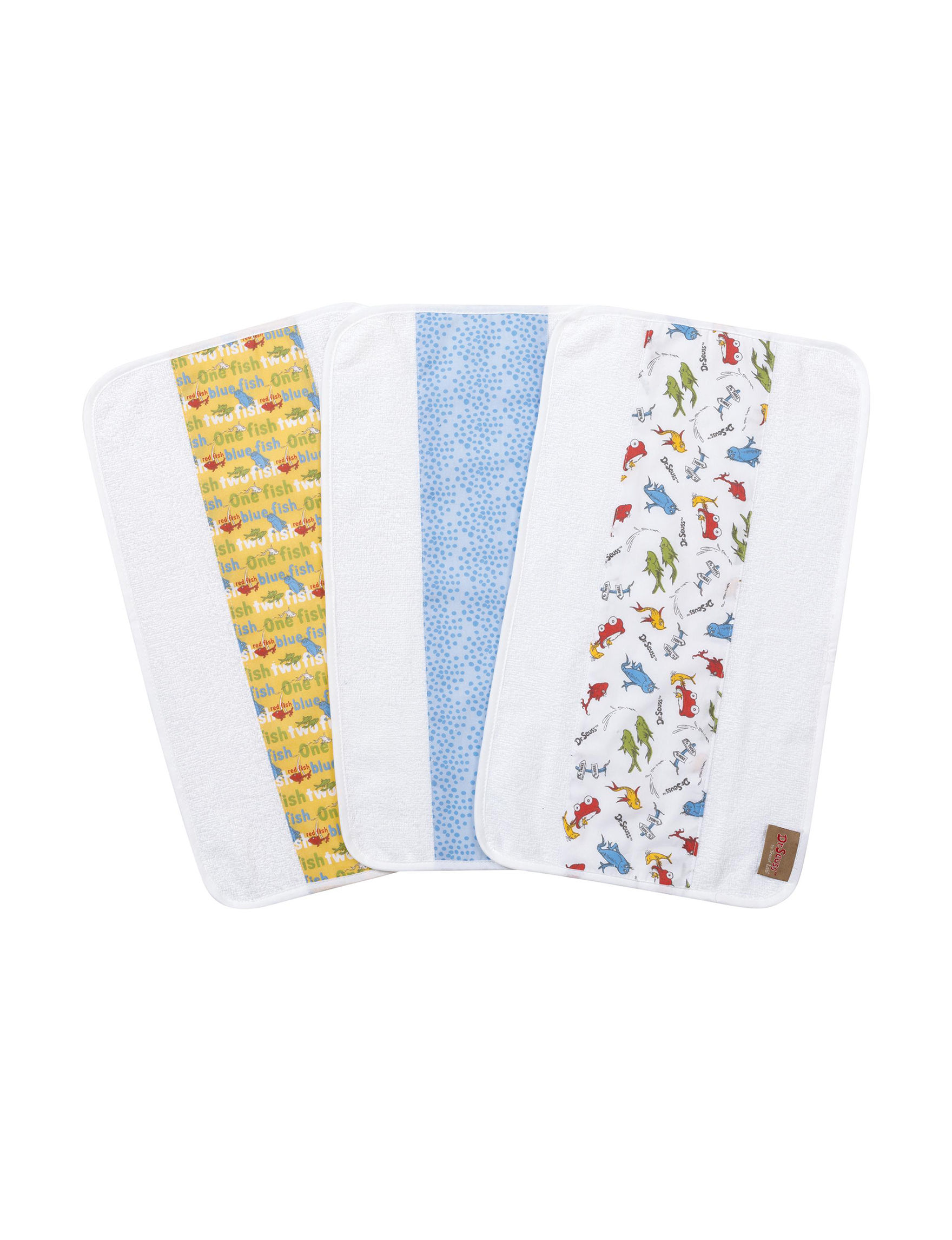Trend Lab White Multi Bibs & Burp Cloths