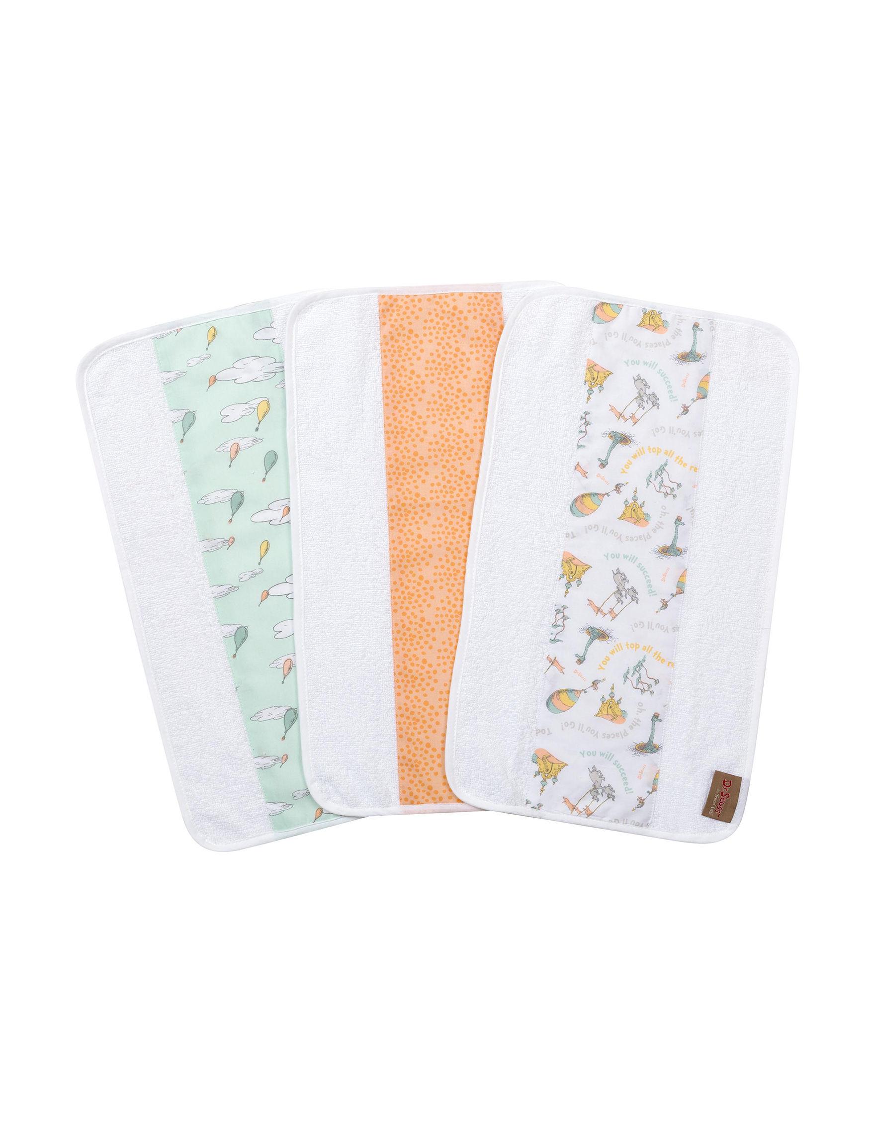 Trend Lab White Multi Bibs & Burp Cloths