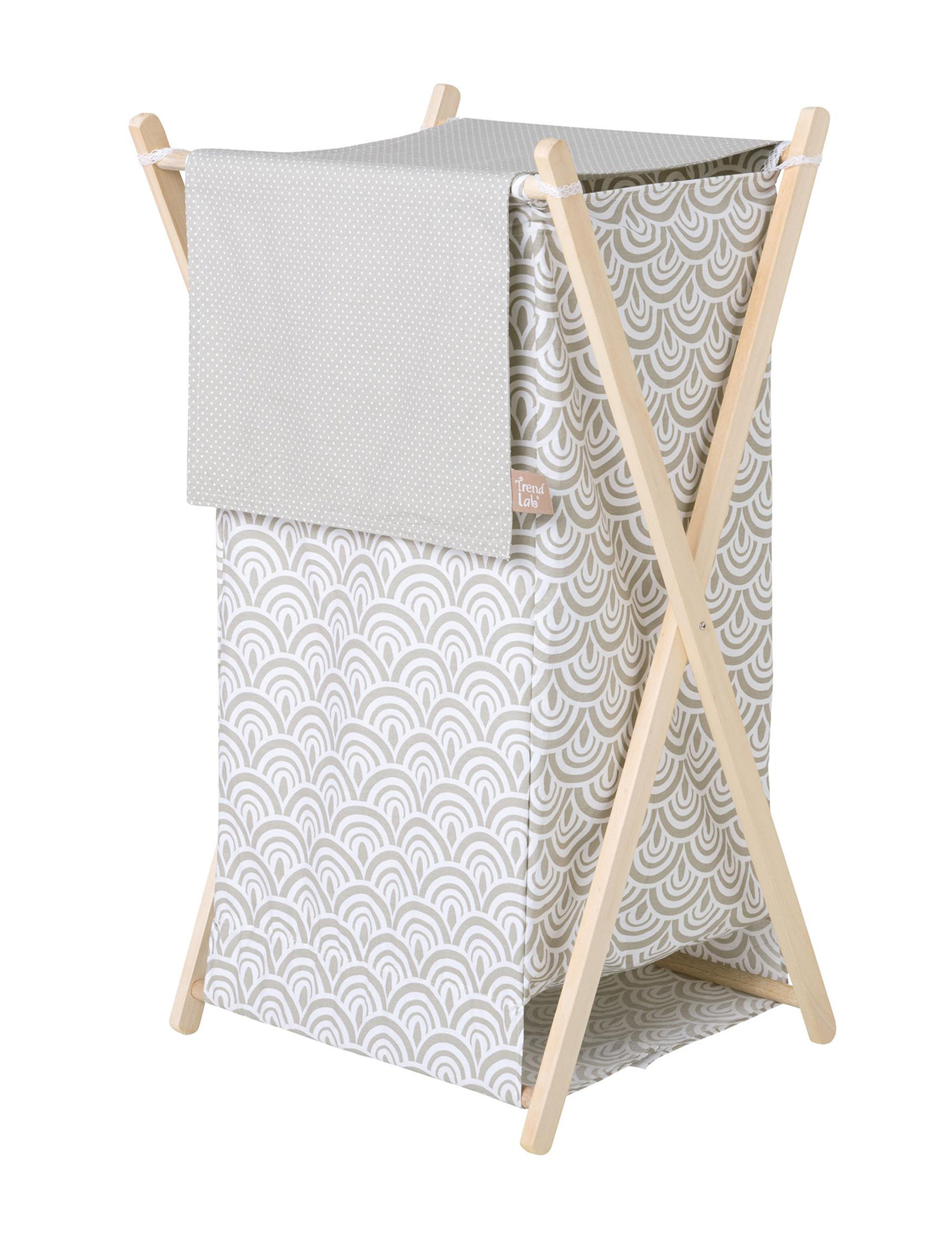 Trend Lab Grey / White Baskets Storage & Organization