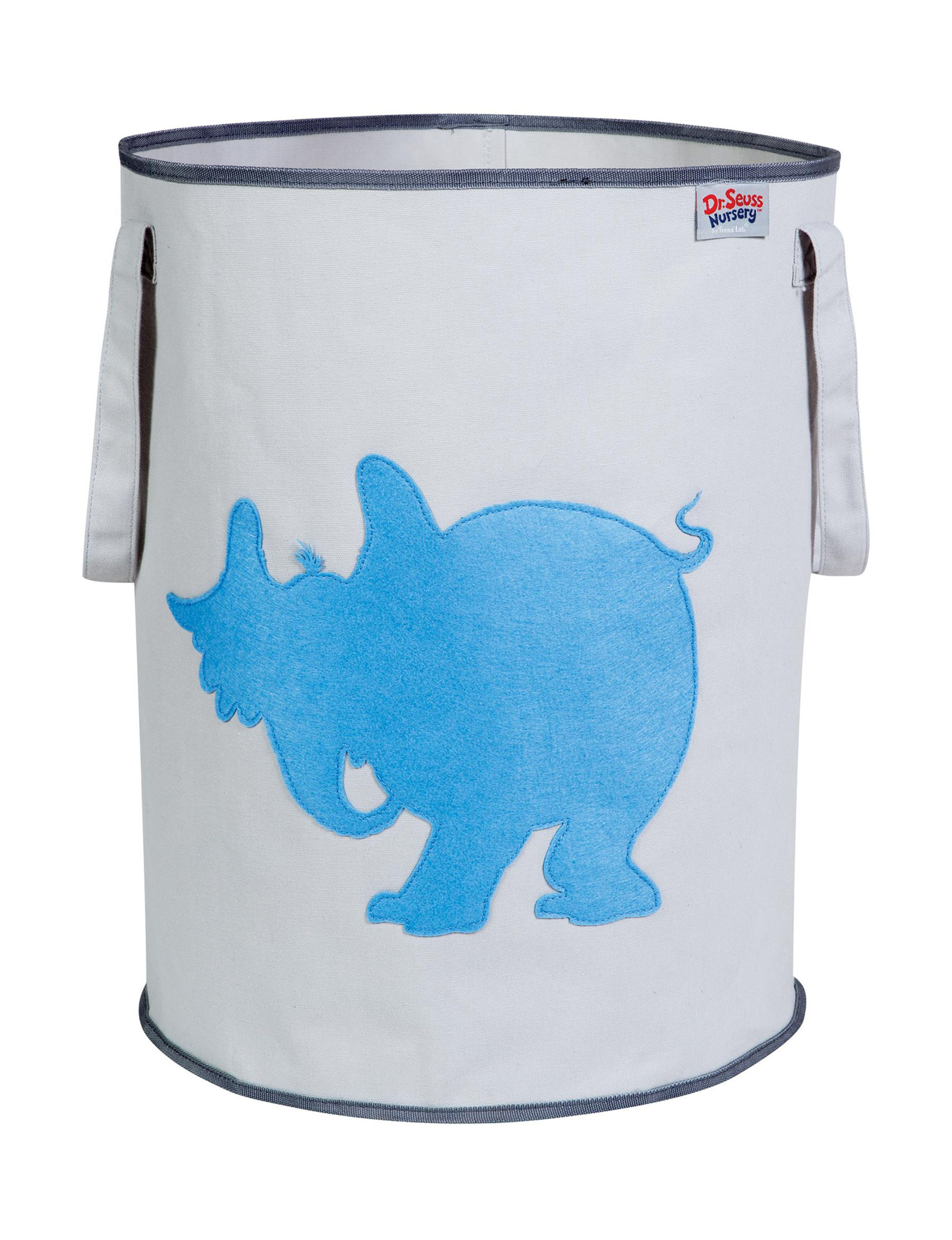 Trend Lab Grey / Blue Baskets Storage & Organization