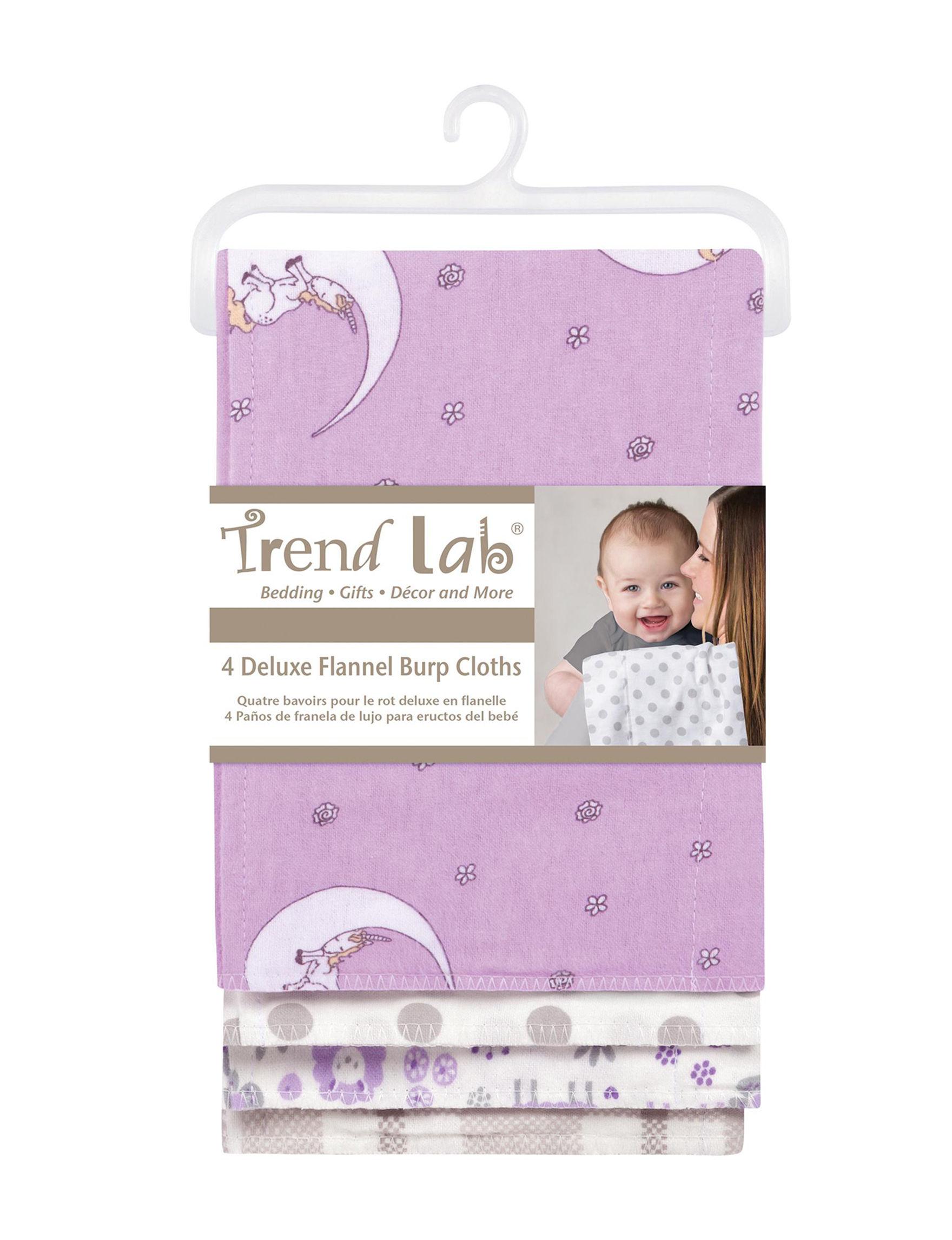 Trend Lab Purple Multi Bibs & Burp Cloths