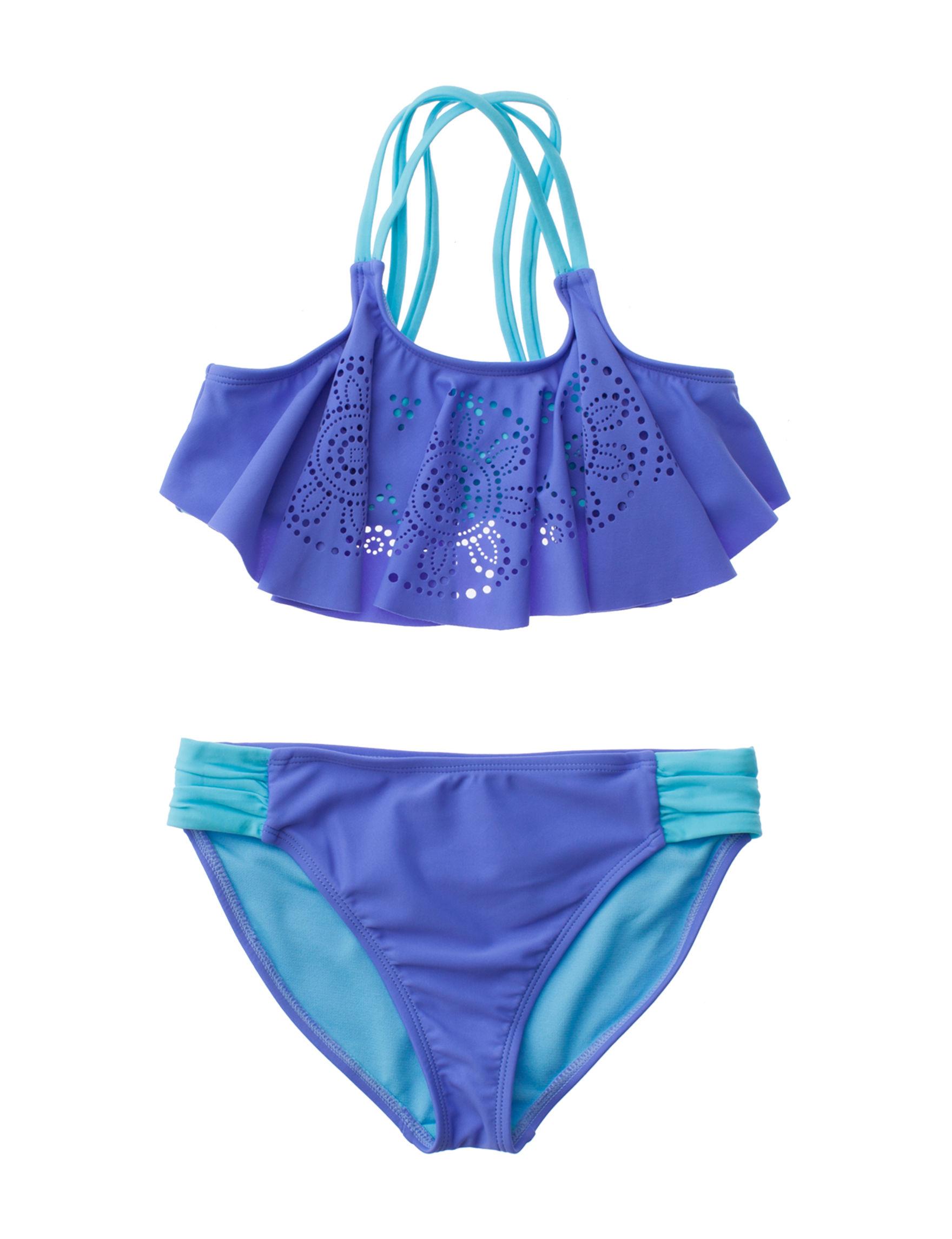 Angel Beach Cobalt Blue Swimsuit Sets
