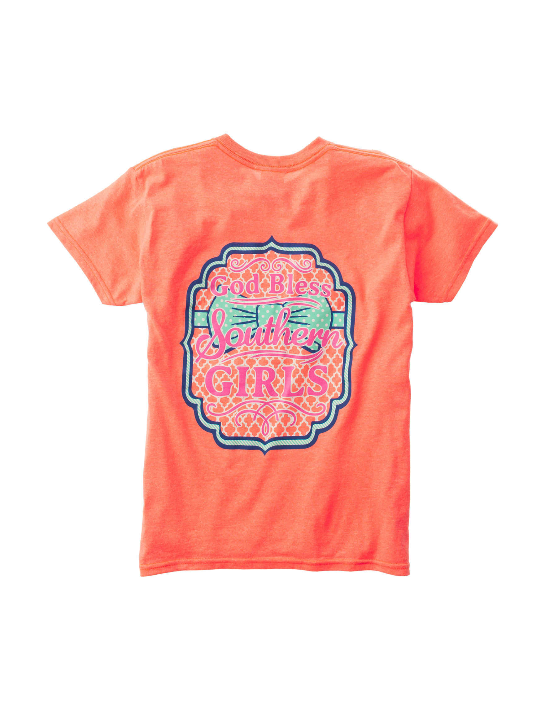 Soffe Heather Coral Tees & Tanks