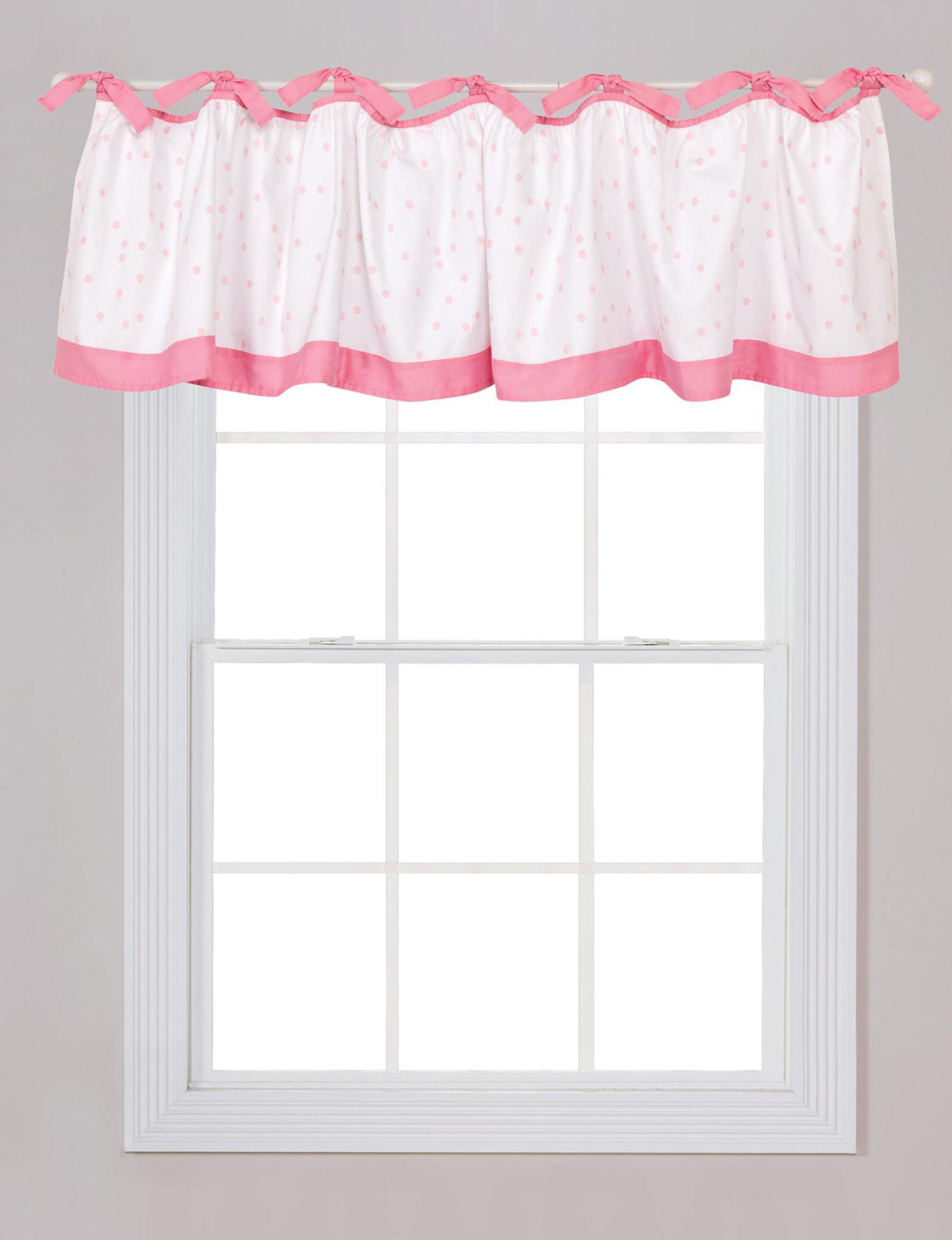 Trend Lab White / Pink Window Treatments