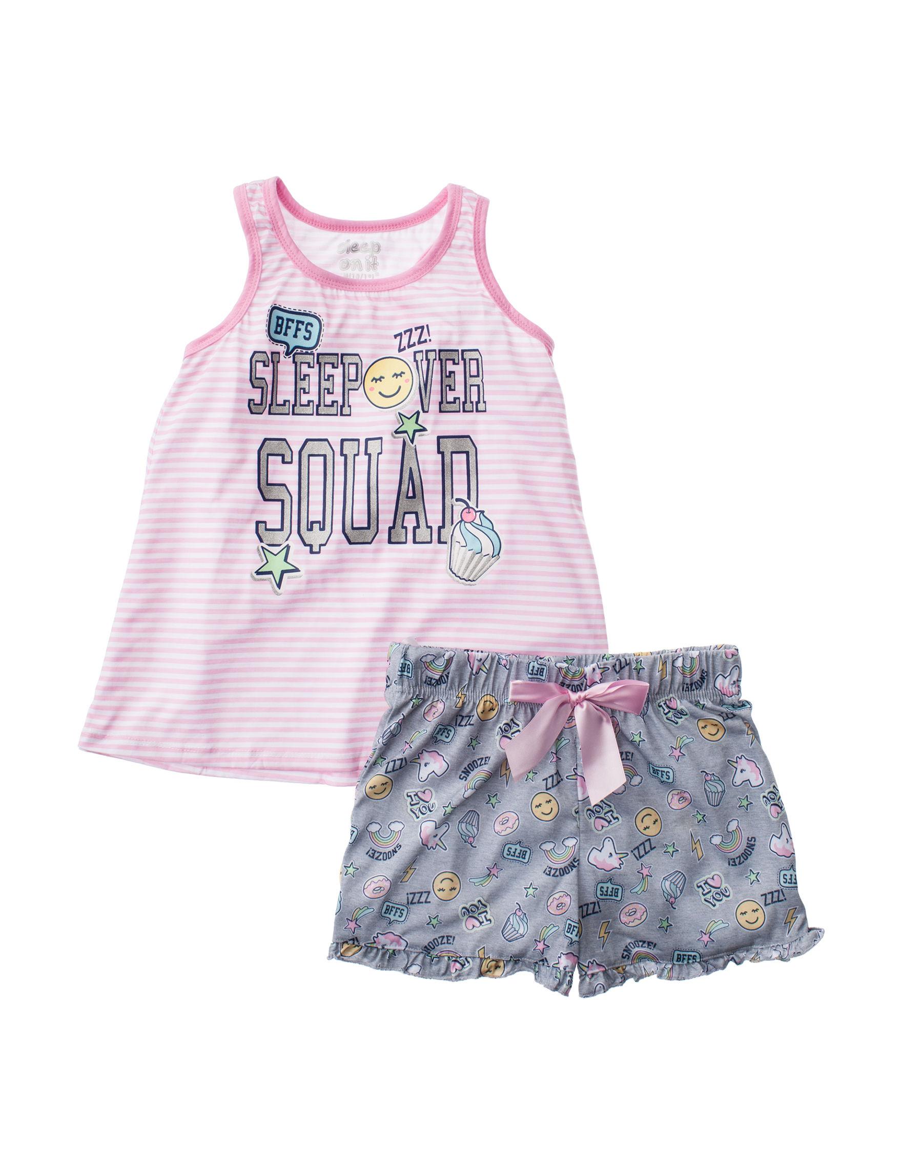 Cloud Nine Pink / Grey Pajama Sets