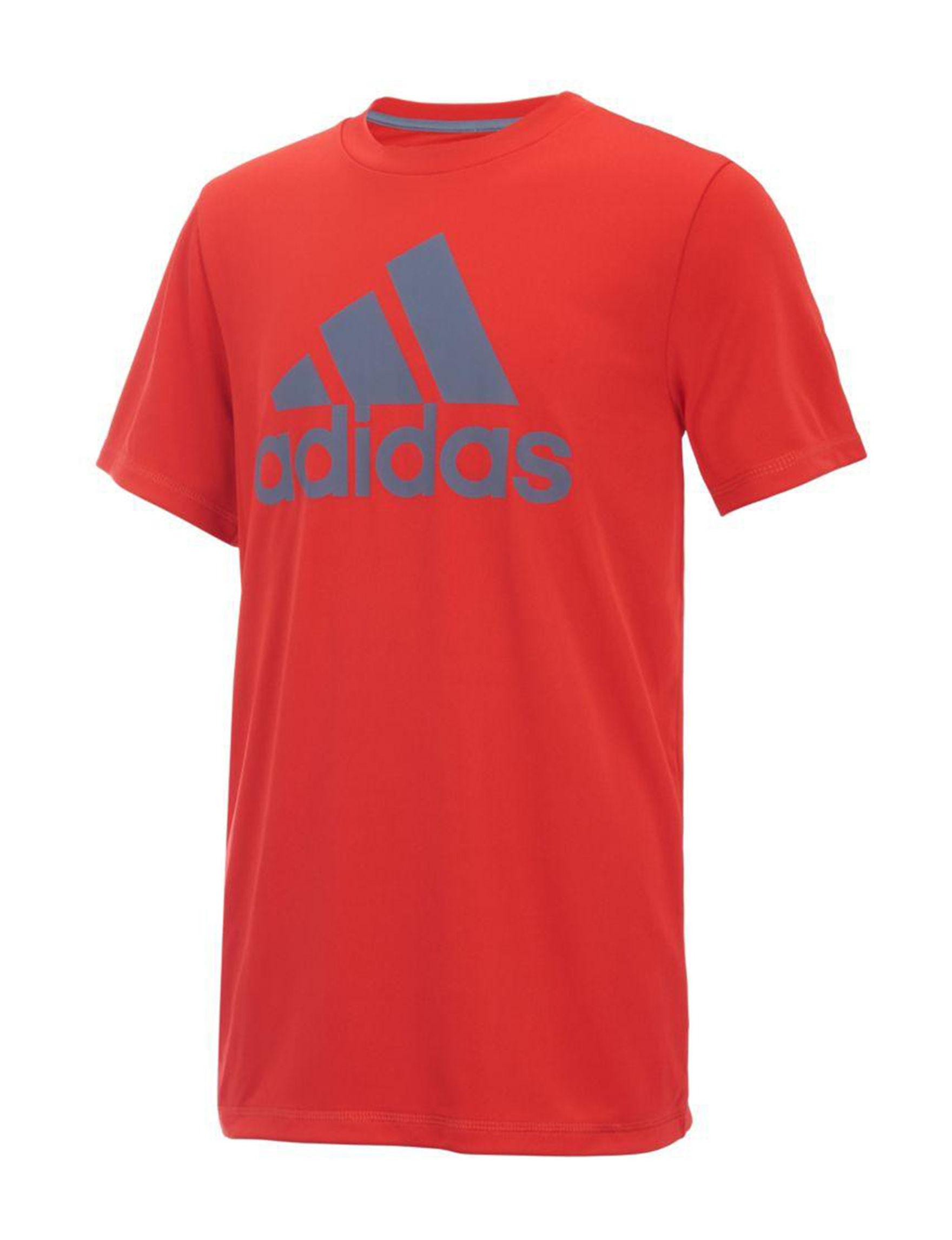 Adidas Red Tees & Tanks
