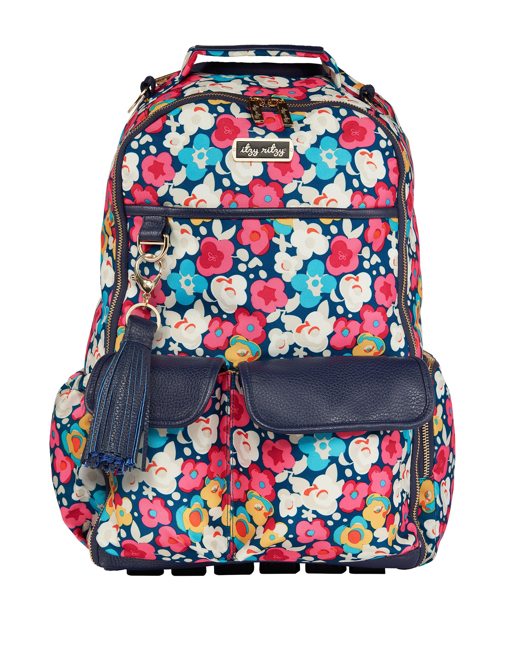 Itzy Ritzy Pink Floral Bookbags & Backpacks Diaper Bags