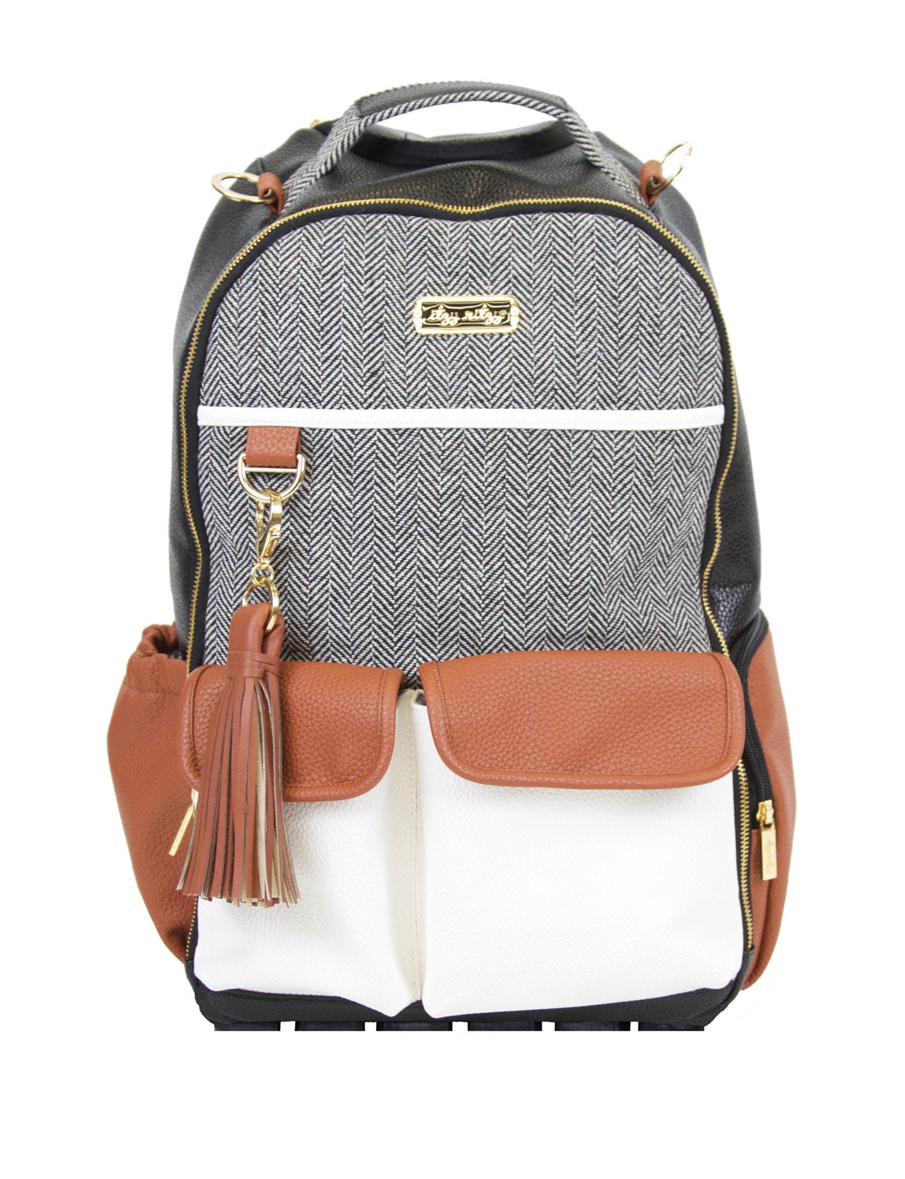 Itzy Ritzy Grey Multi Bookbags & Backpacks Diaper Bags