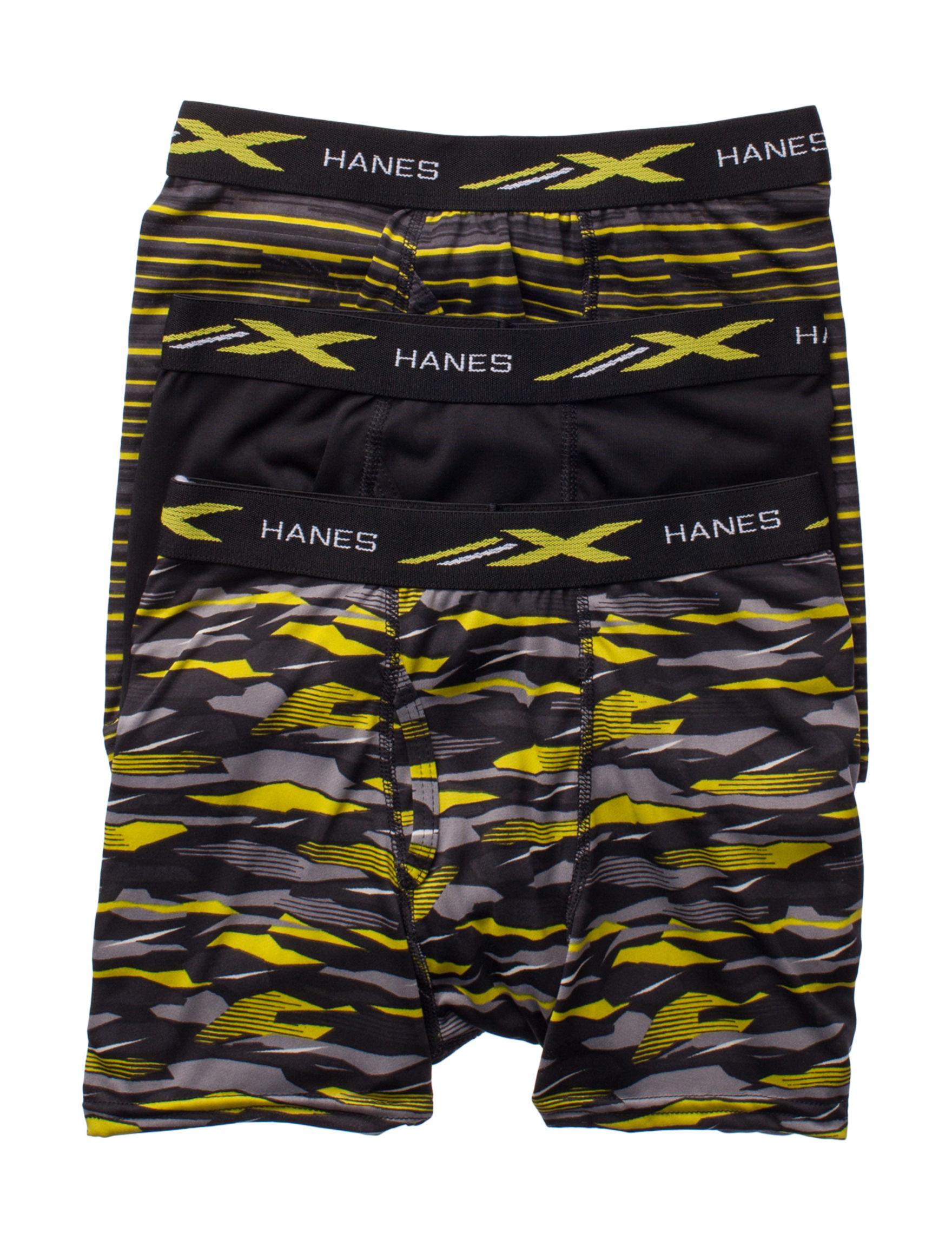Hanes Navy / Green Boxer Briefs