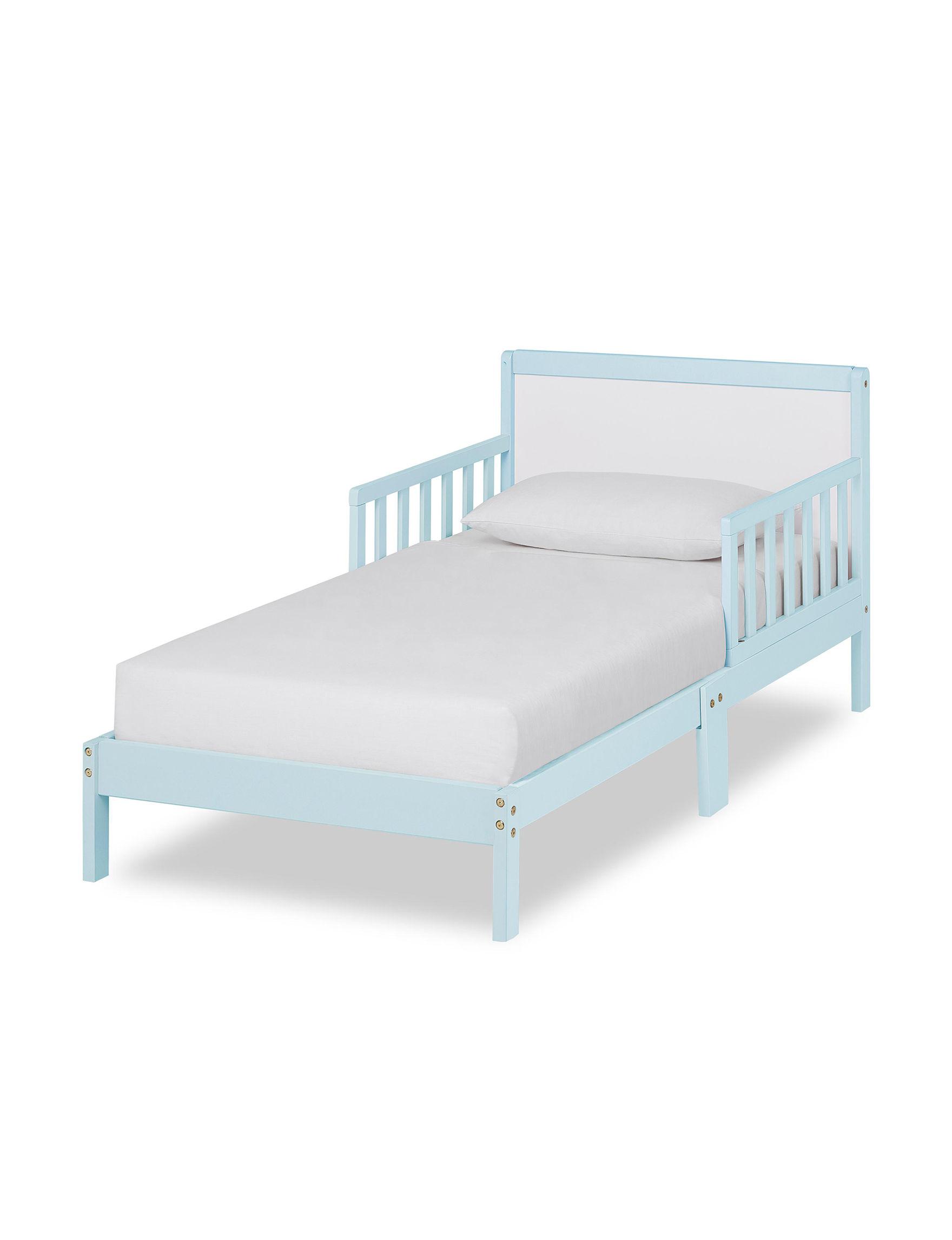 Dream On Me Sky Blue / White Beds & Headboards Bedroom Furniture