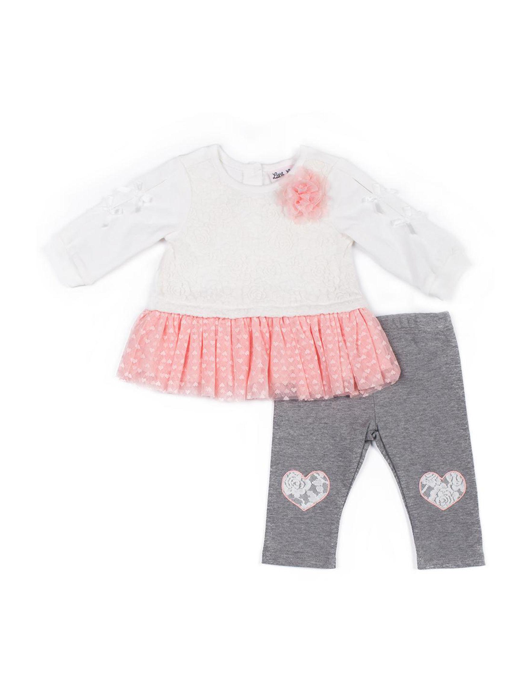 Little Lass White / Pink / Grey