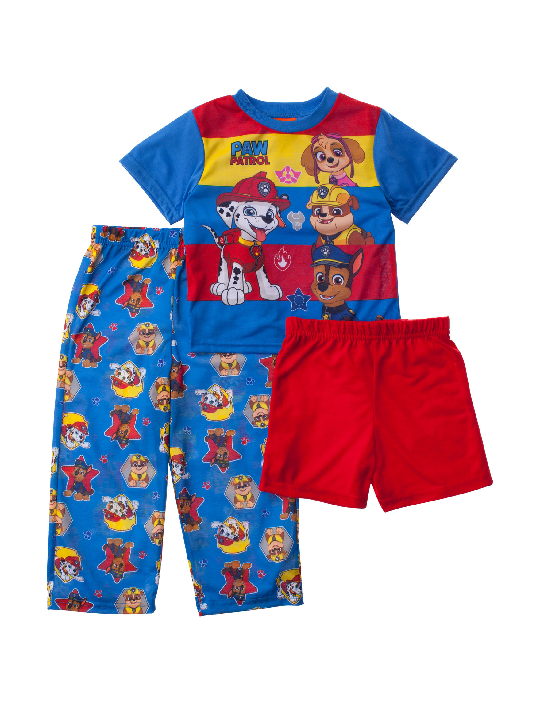 Licensed Blue/ Red Pajama Sets