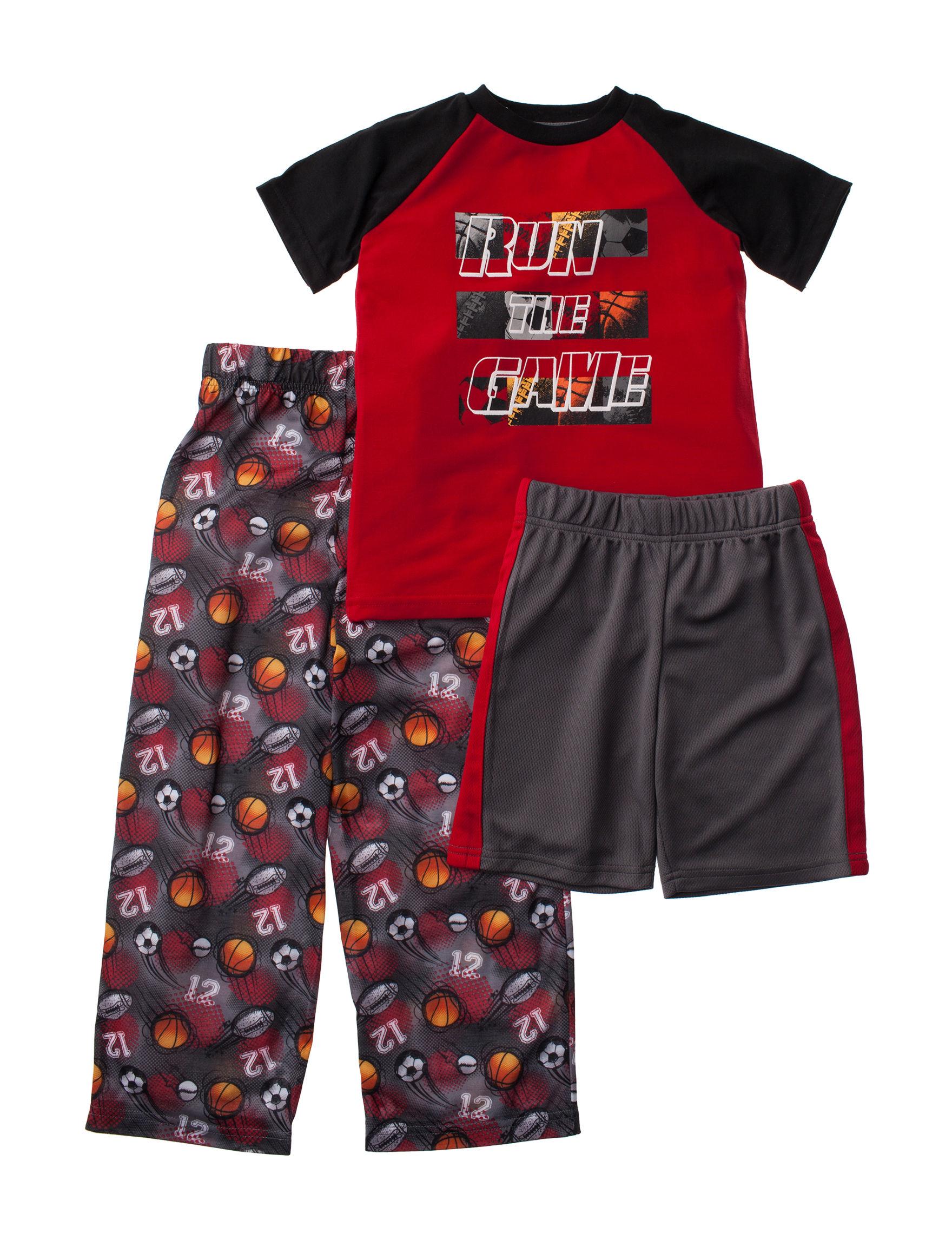 Cloud Nine Red / Black Pajama Sets