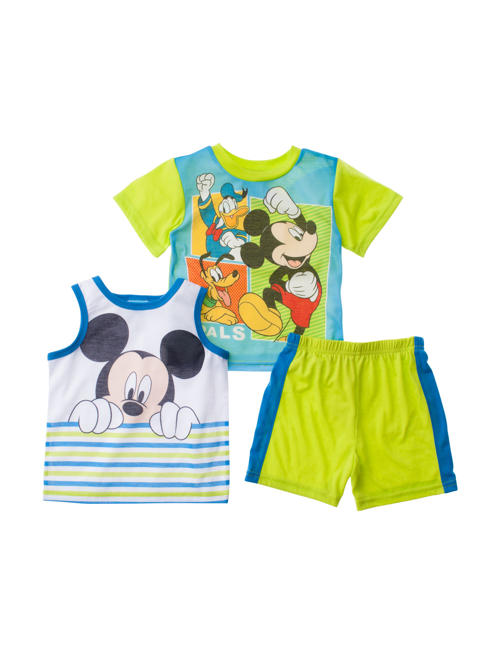 Licensed Green Multi Pajama Sets