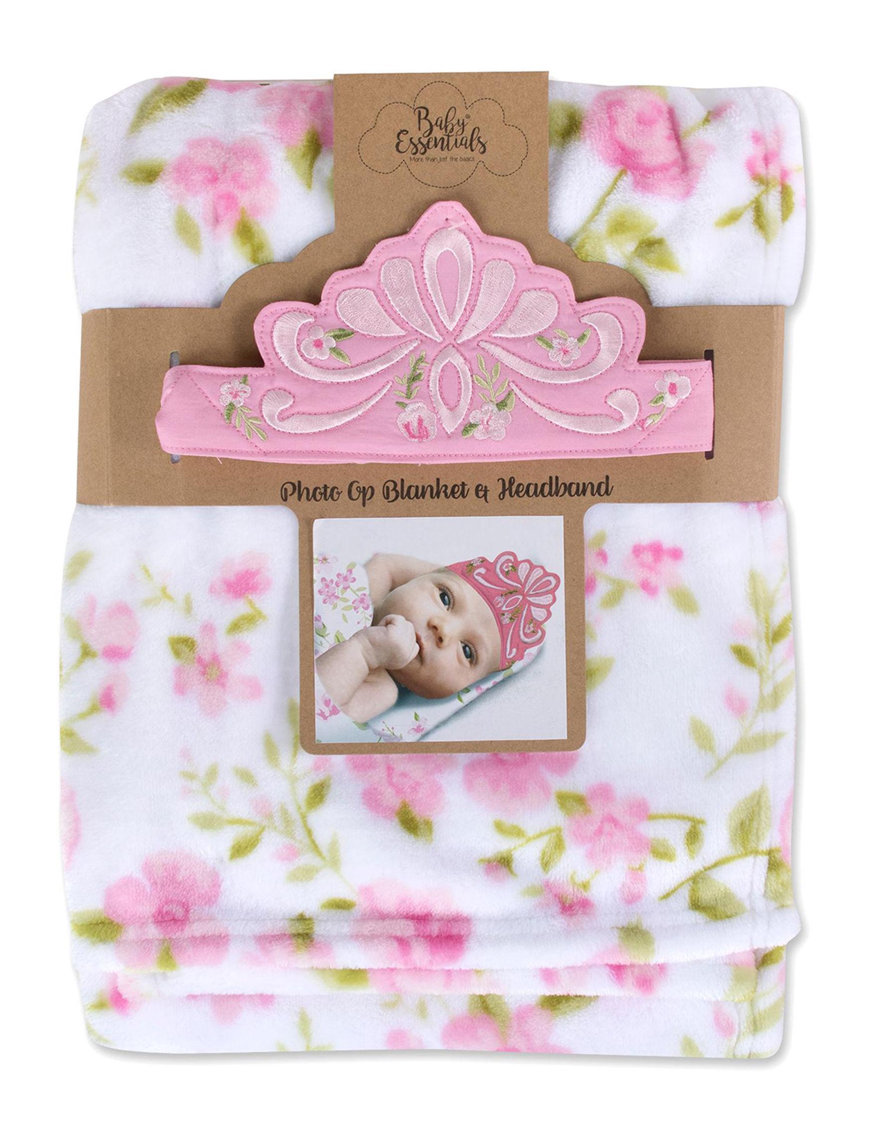 Baby Essentials 2-pc. Floral Crown Blanket & Headband Set | Stage Stores