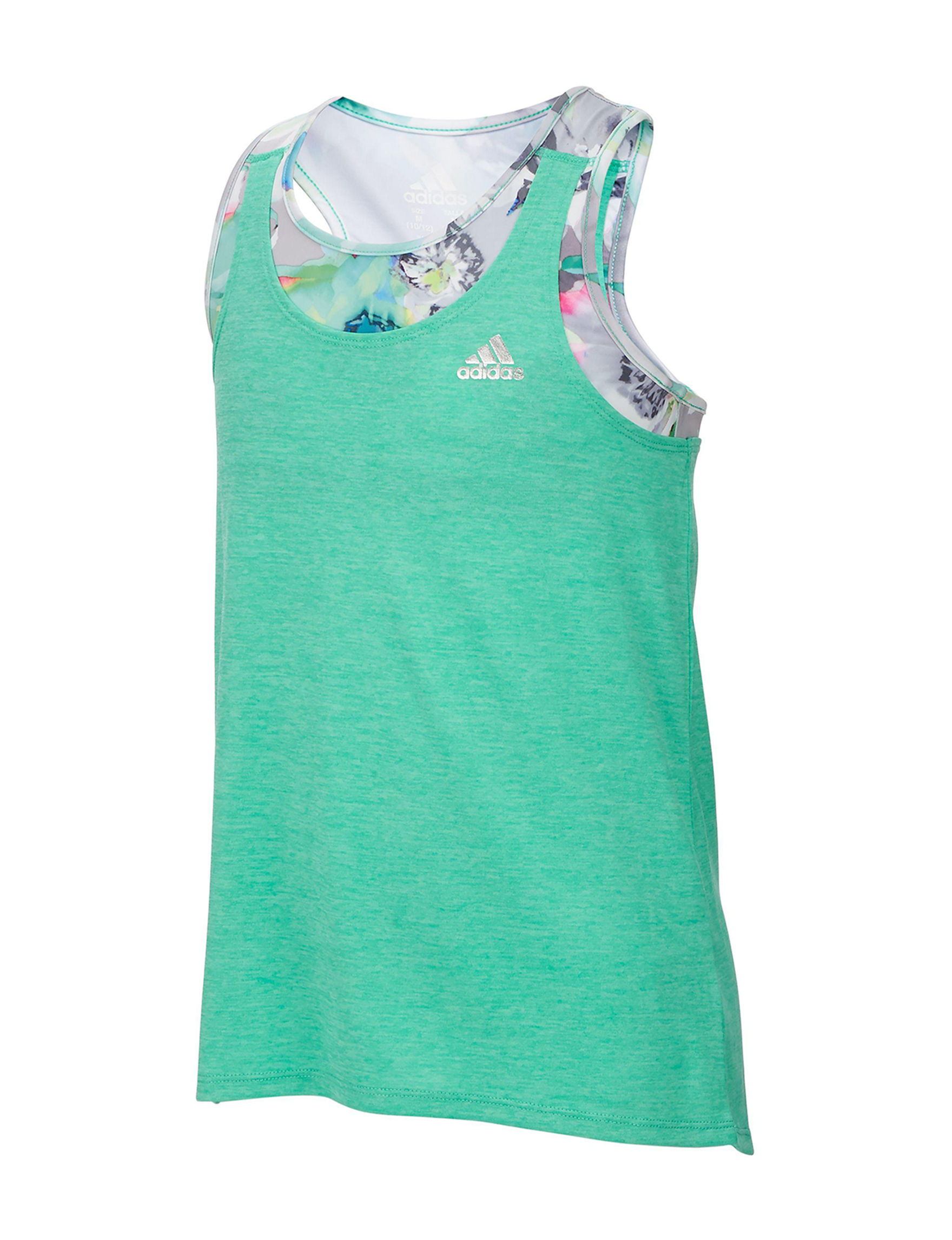 Adidas Green Tees & Tanks