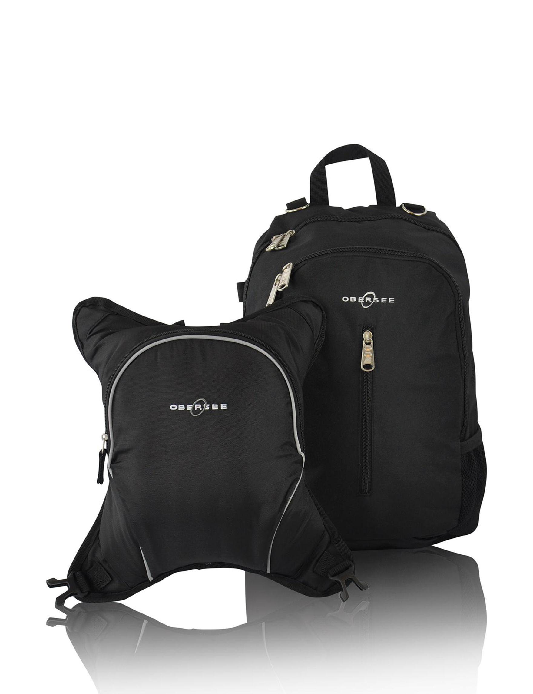 Obersee Black / Black Bookbags & Backpacks Diaper Bags