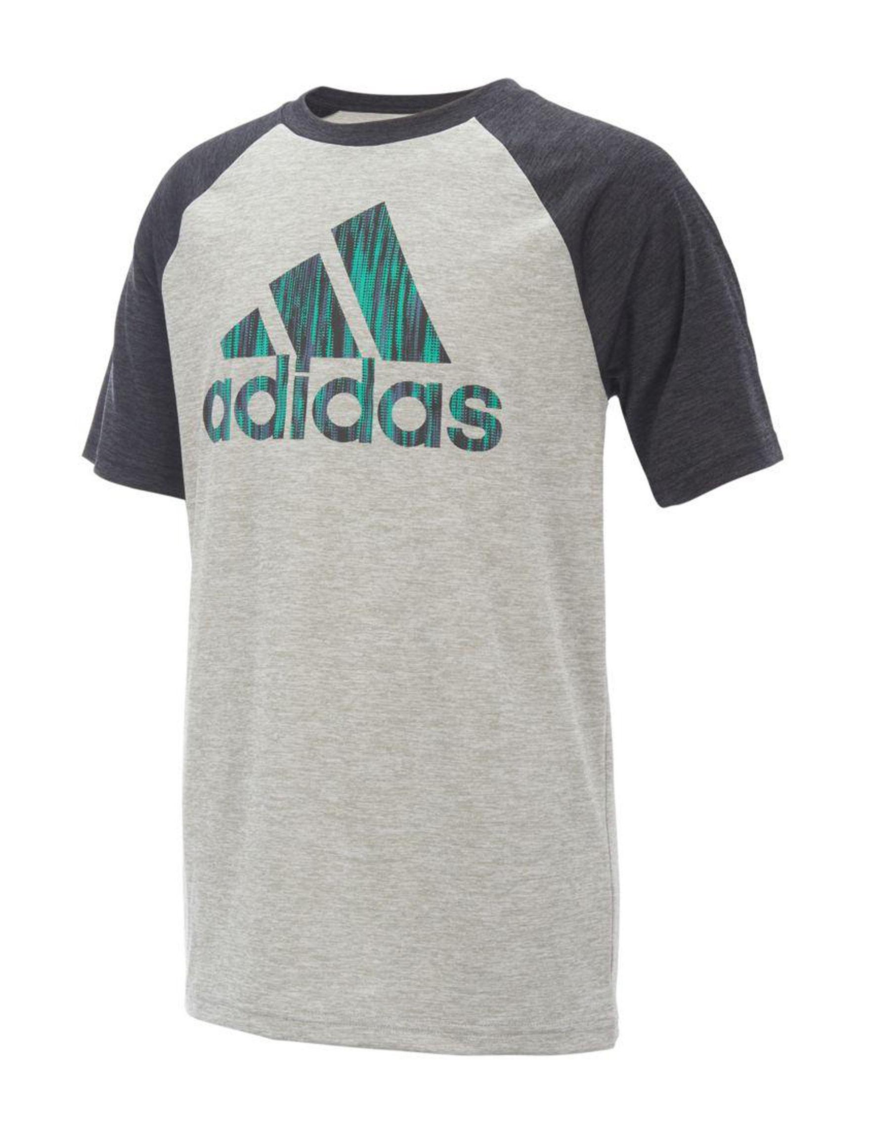 Adidas Grey Tees & Tanks