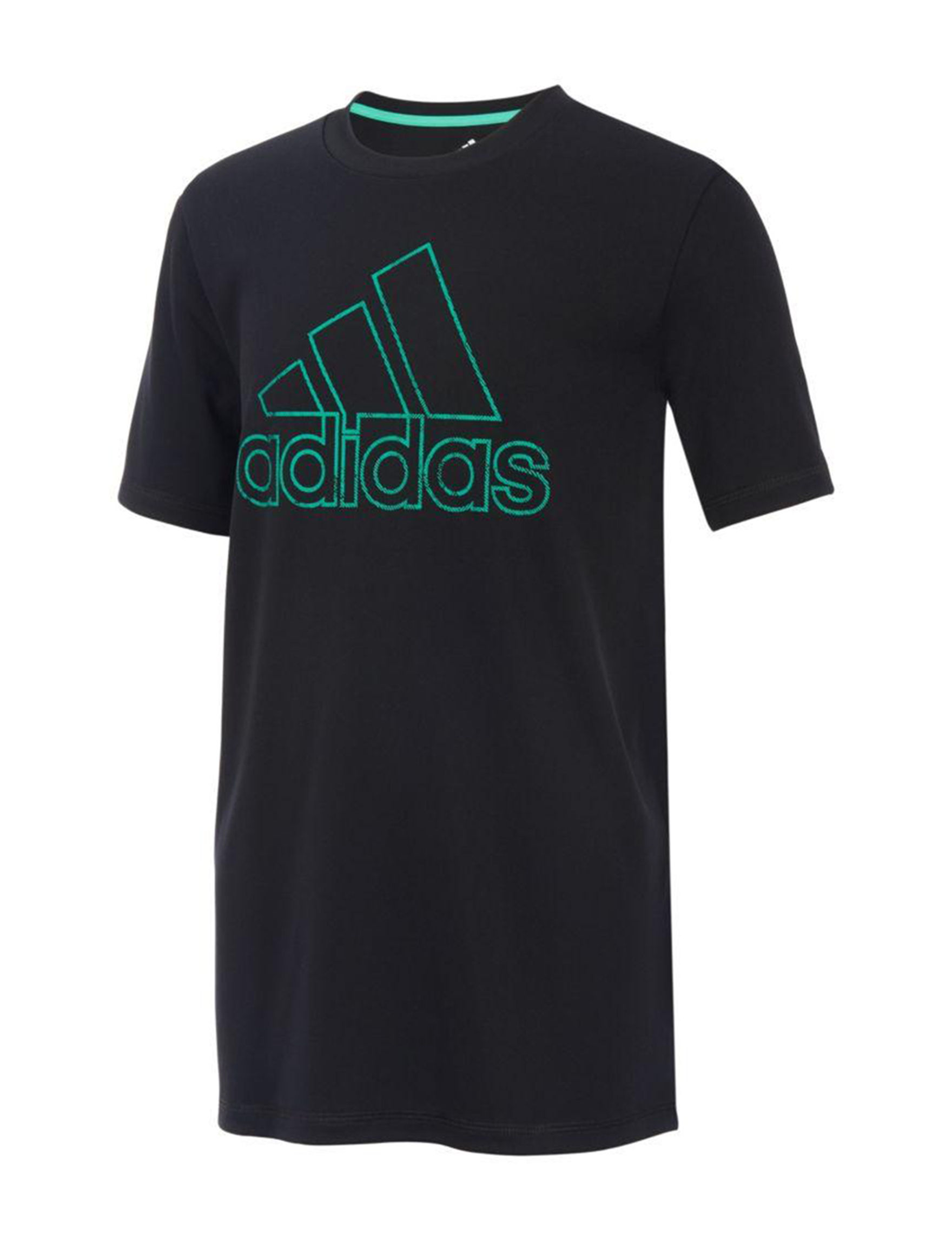 Adidas Black / Green Tees & Tanks