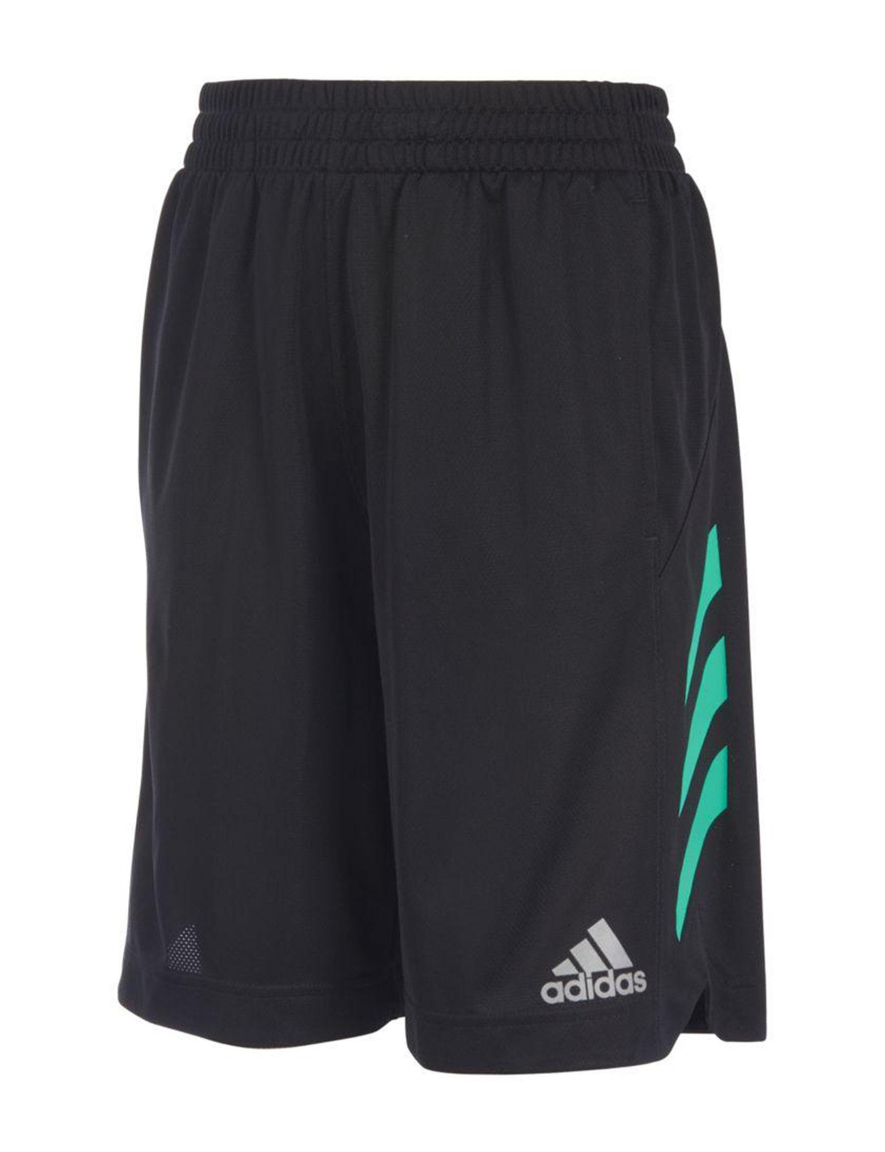 Adidas Black / Green Soft Shorts