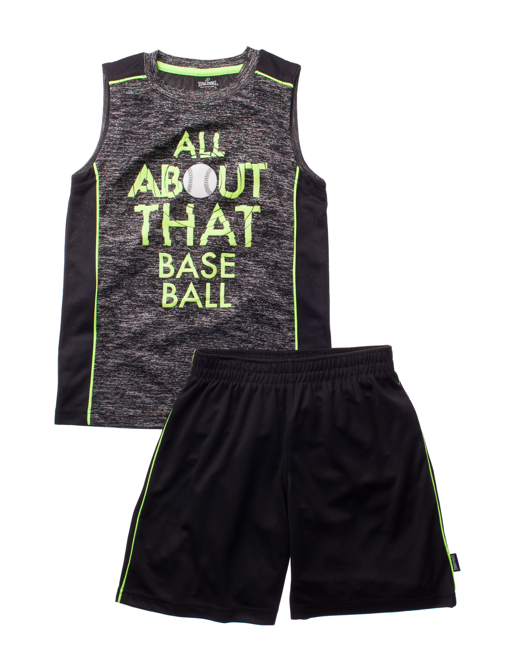 Spalding Black Tees & Tanks