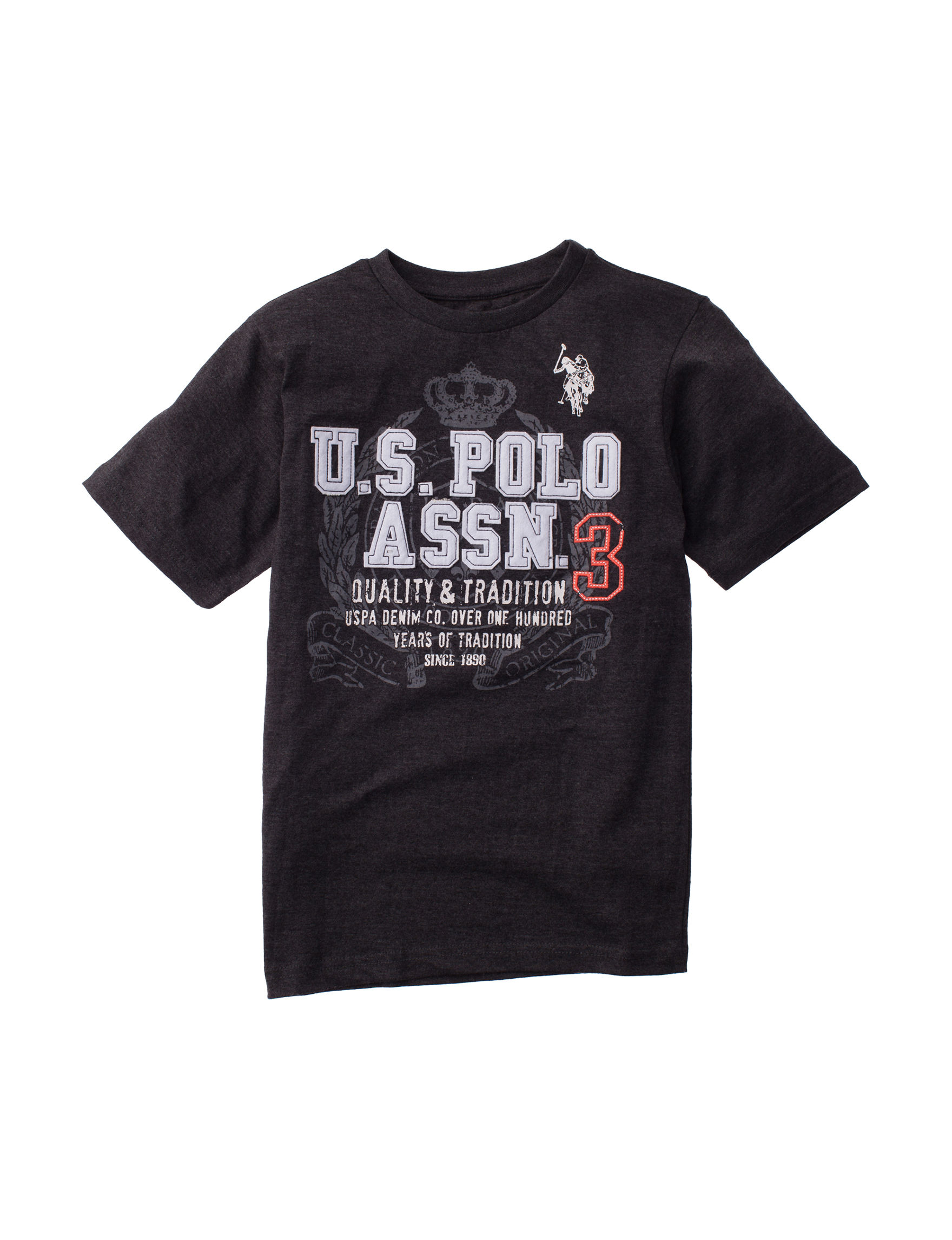 U.S. Polo Assn. Heather Black
