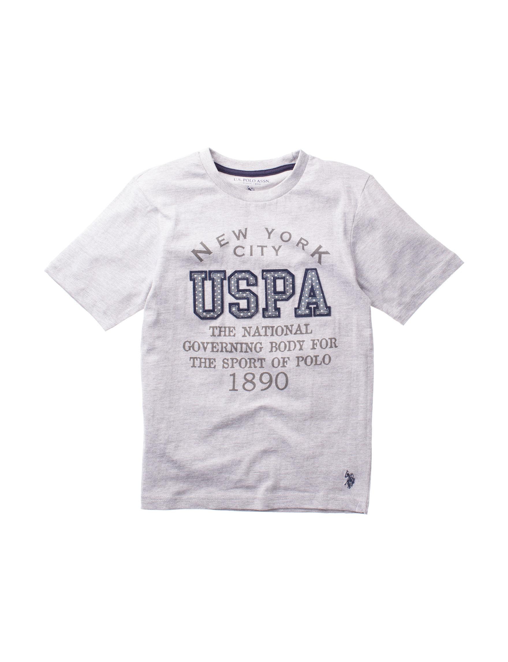 U.S. Polo Assn. Heather Grey Tees & Tanks