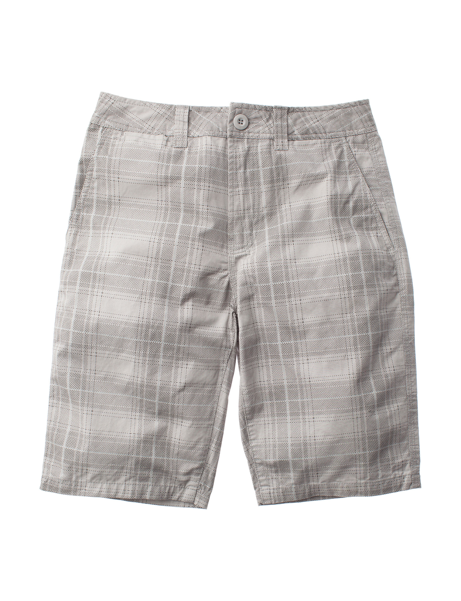 Rustic Blue Grey Plaid Soft Shorts