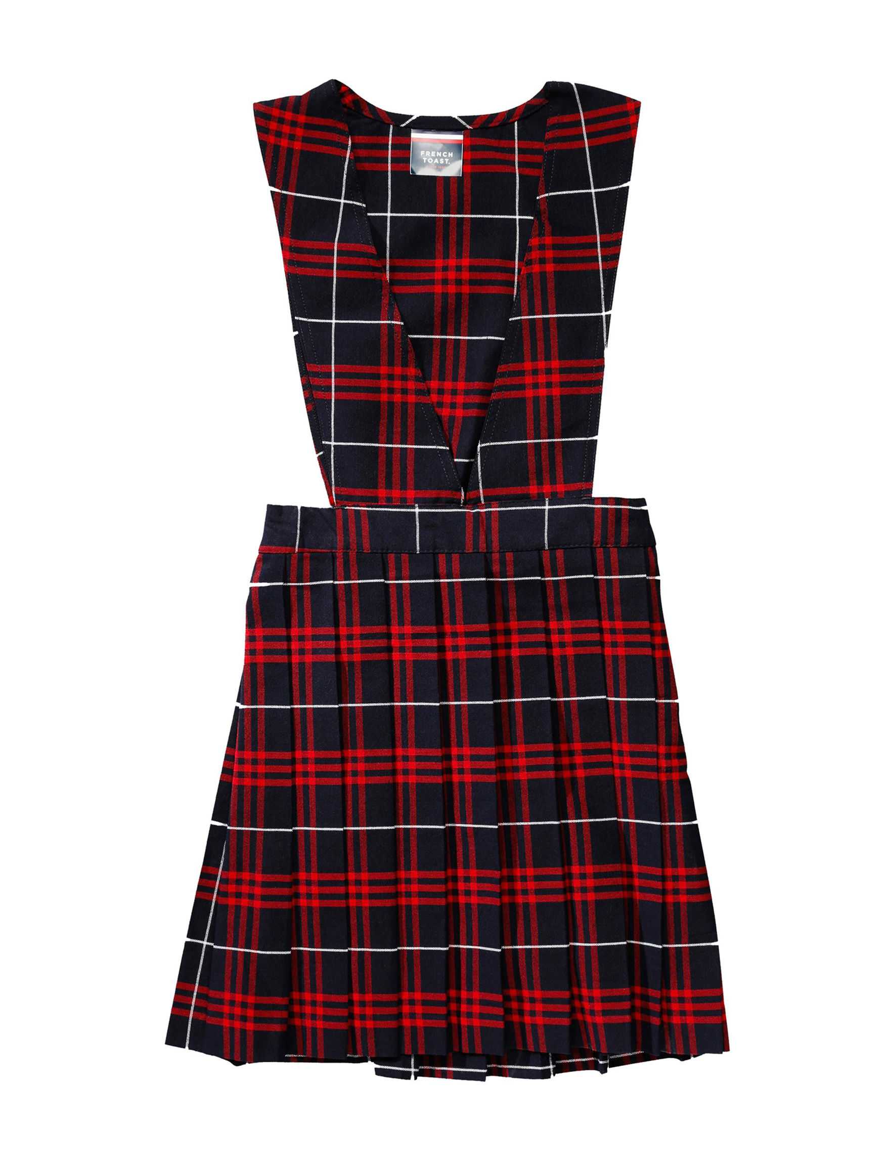 French Toast Navy/Red Plaid