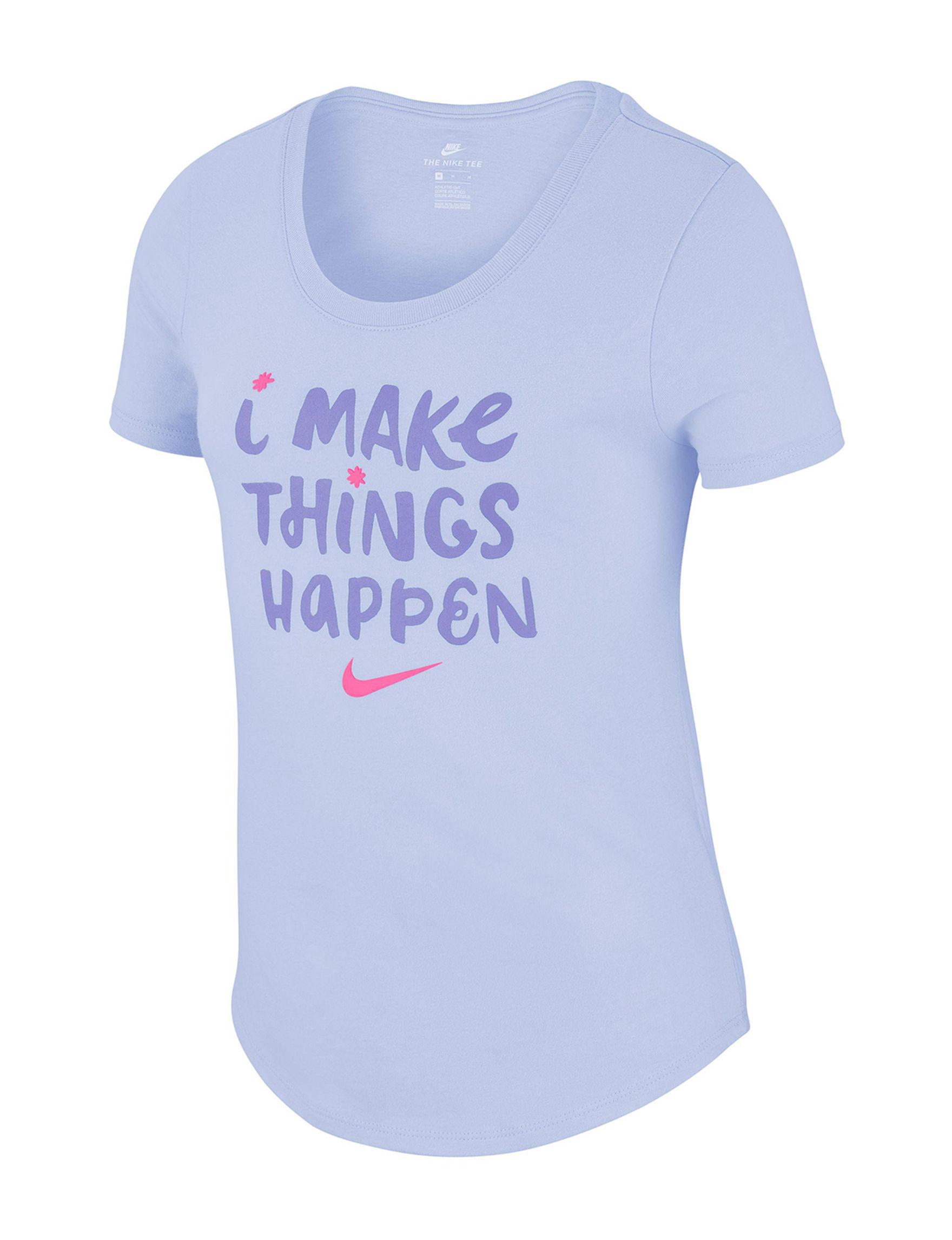Nike Pastel Purple Tees & Tanks