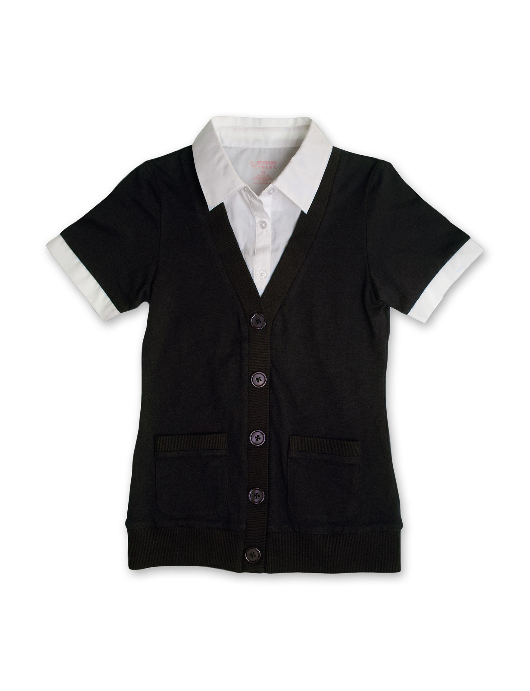 French Toast Black Shirts & Blouses