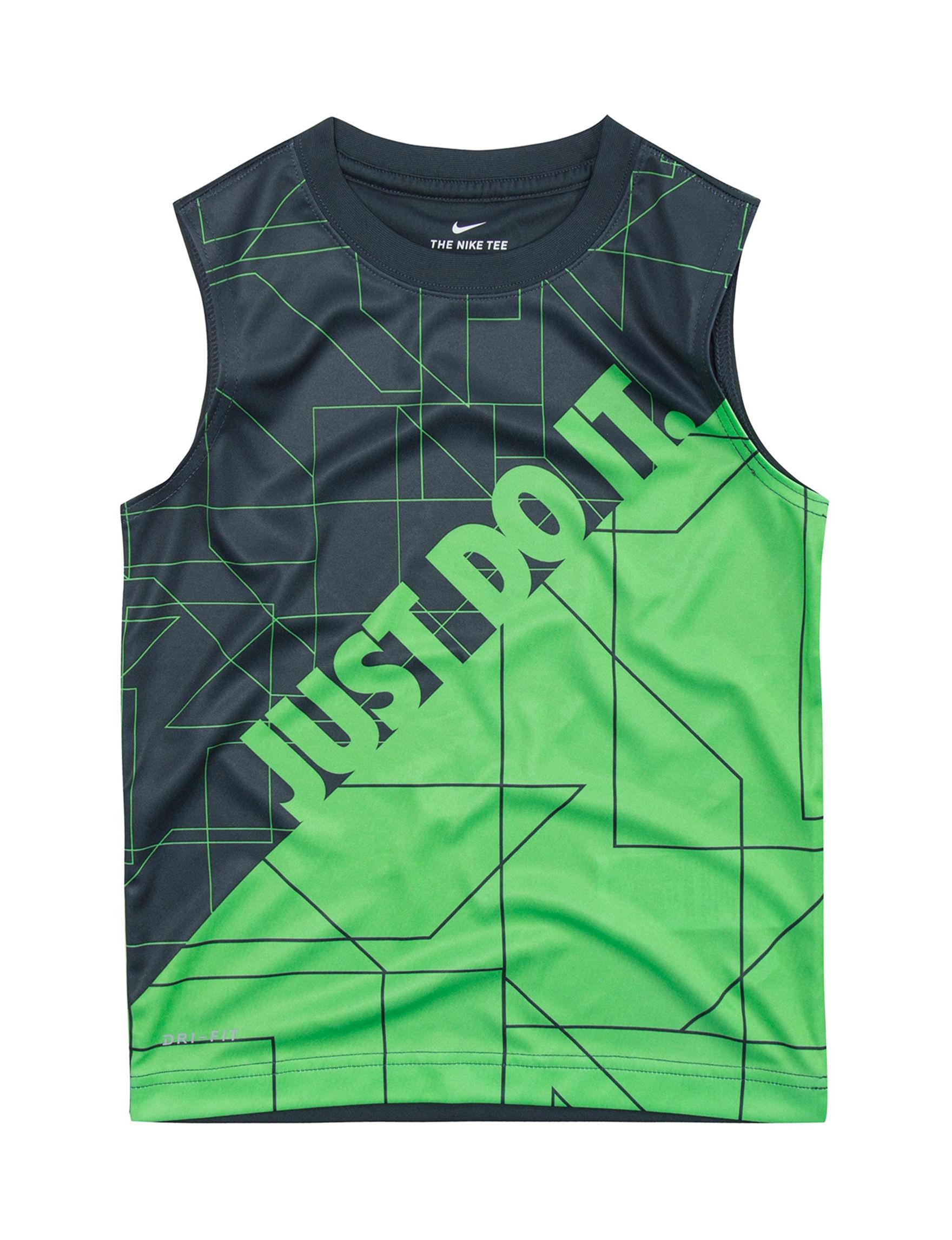 Nike Green / Navy Tees & Tanks