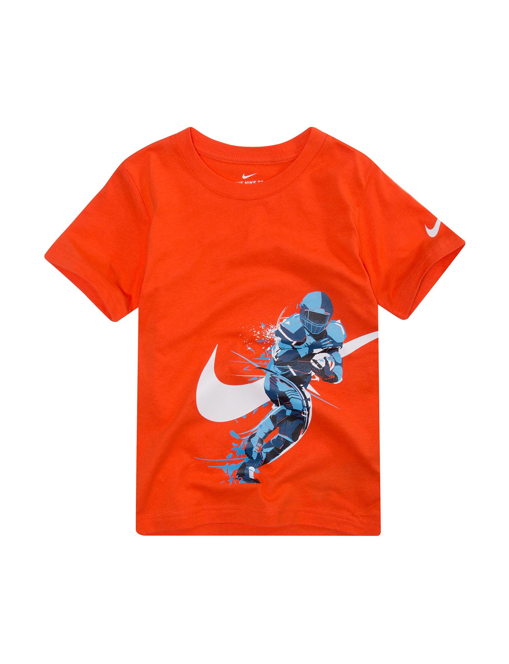 Nike Bright Orange Tees & Tanks