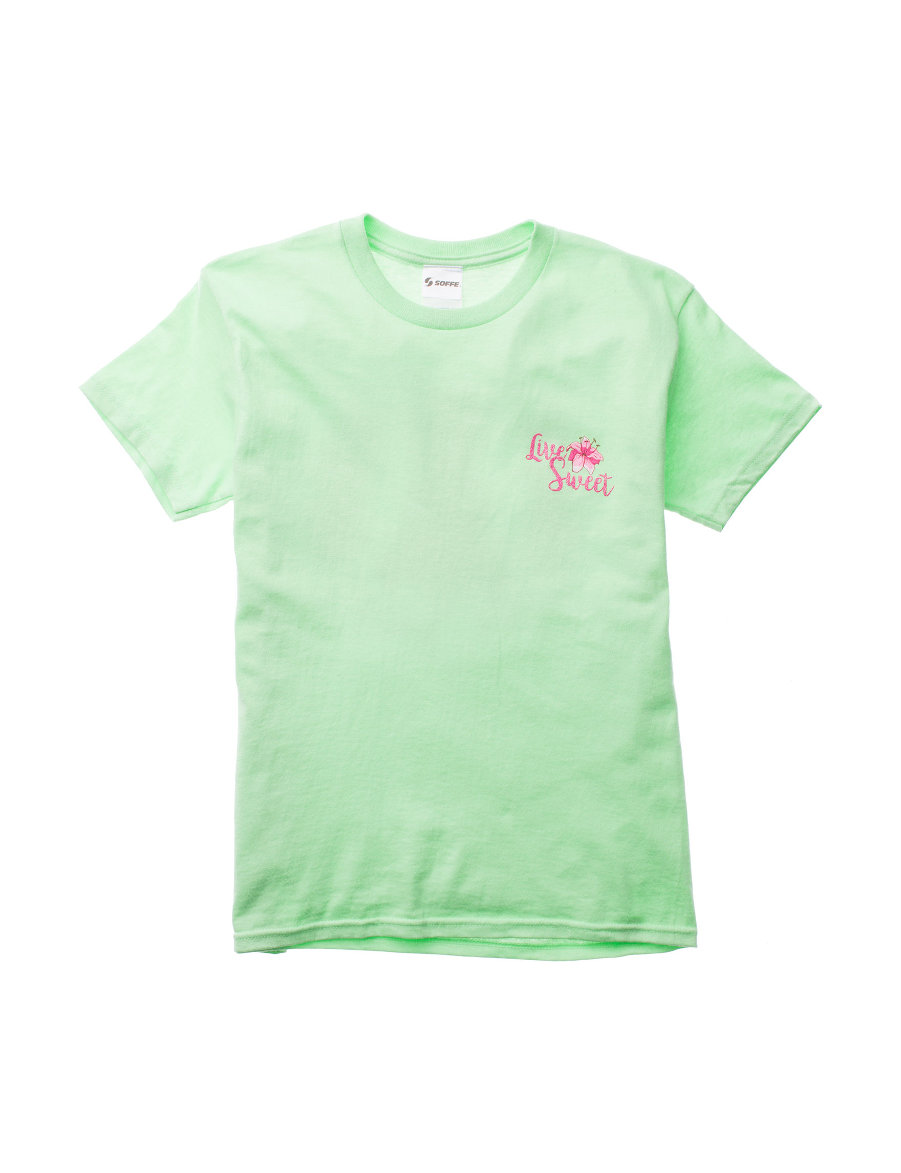 Soffe Neon Green Tees & Tanks