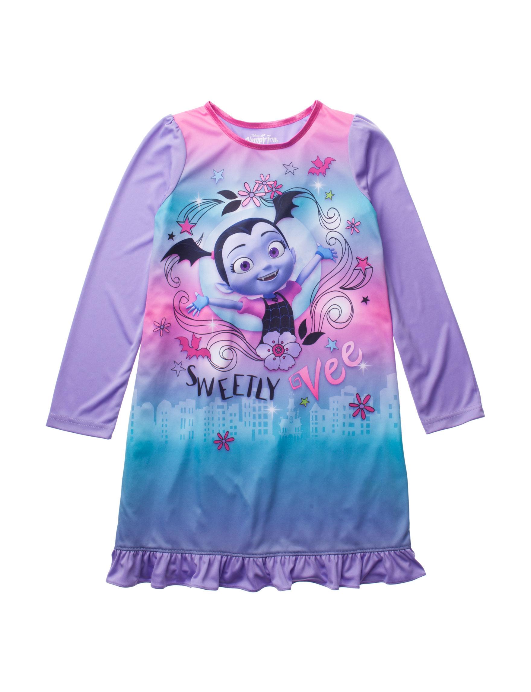 Licensed Purple Multi Nightgowns & Sleep Shirts