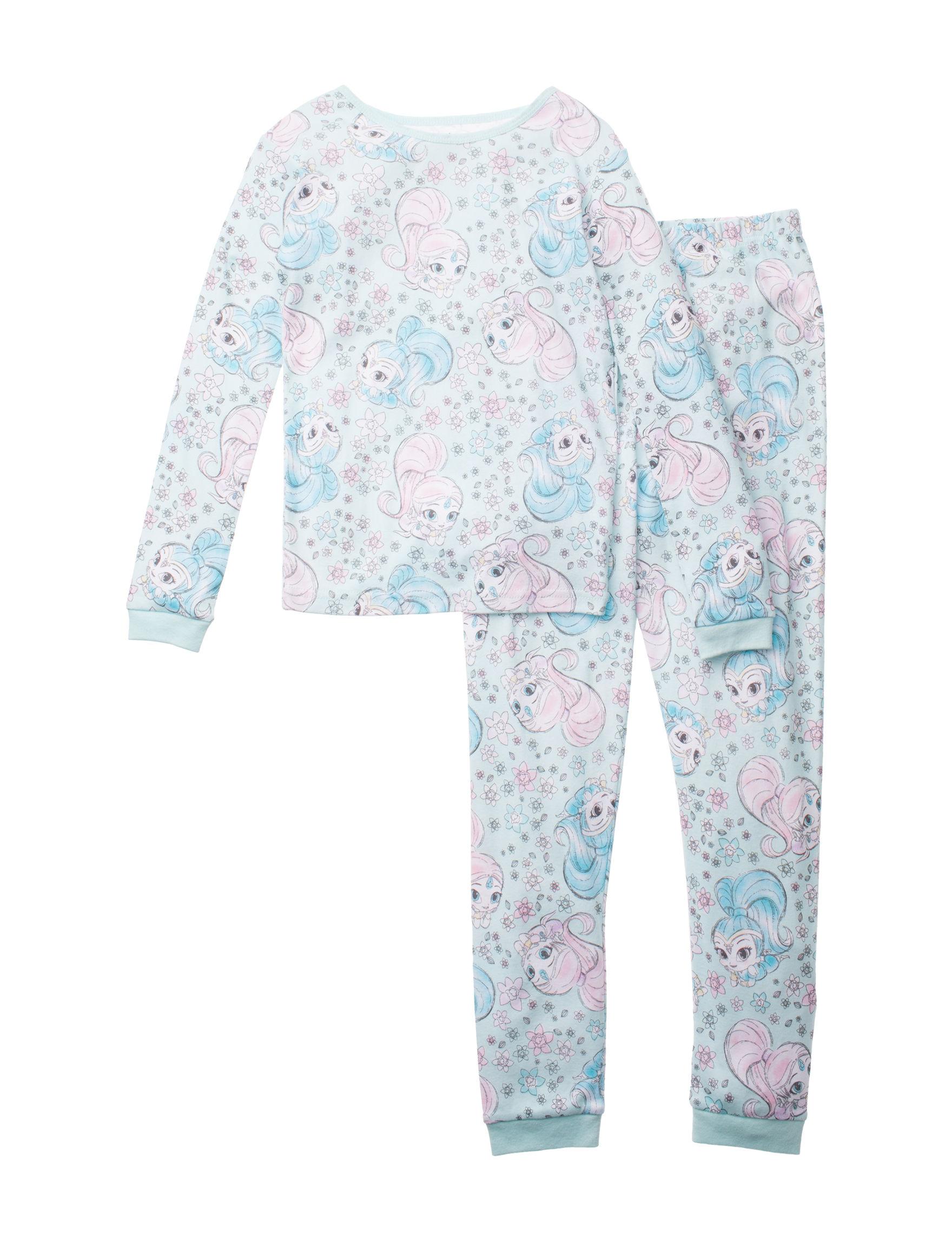 Licensed Blue Multi Pajama Sets