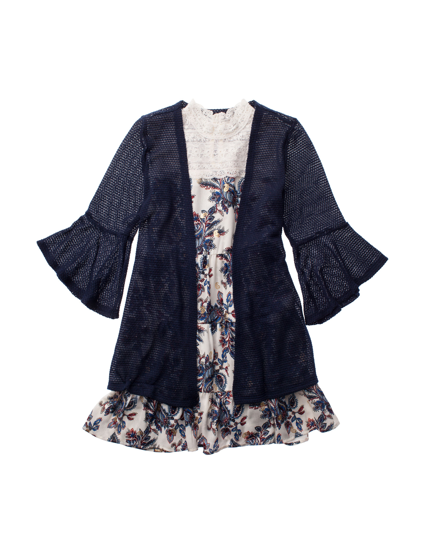 Beautees Navy Floral