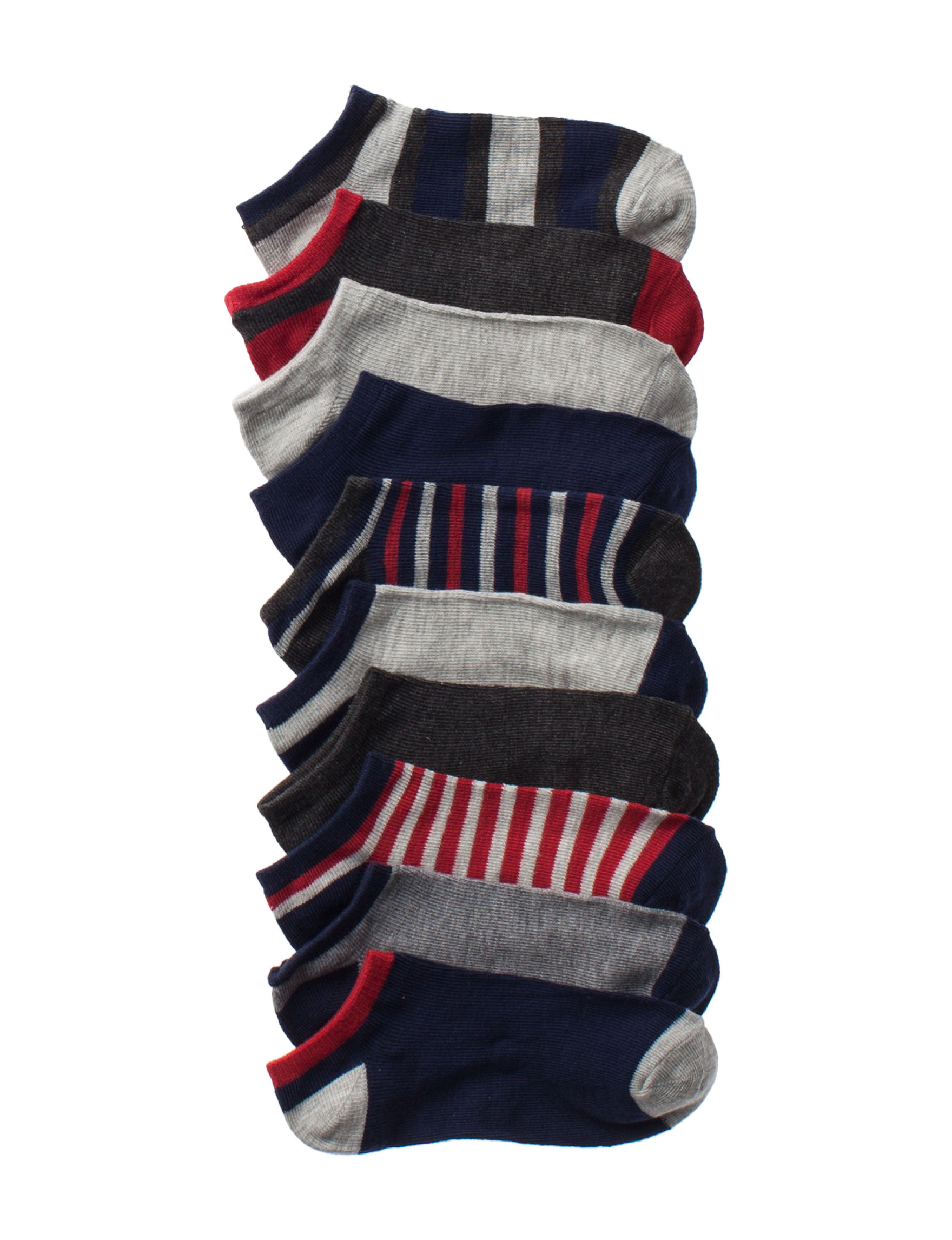 Calvin and Carter Black / Multi Socks