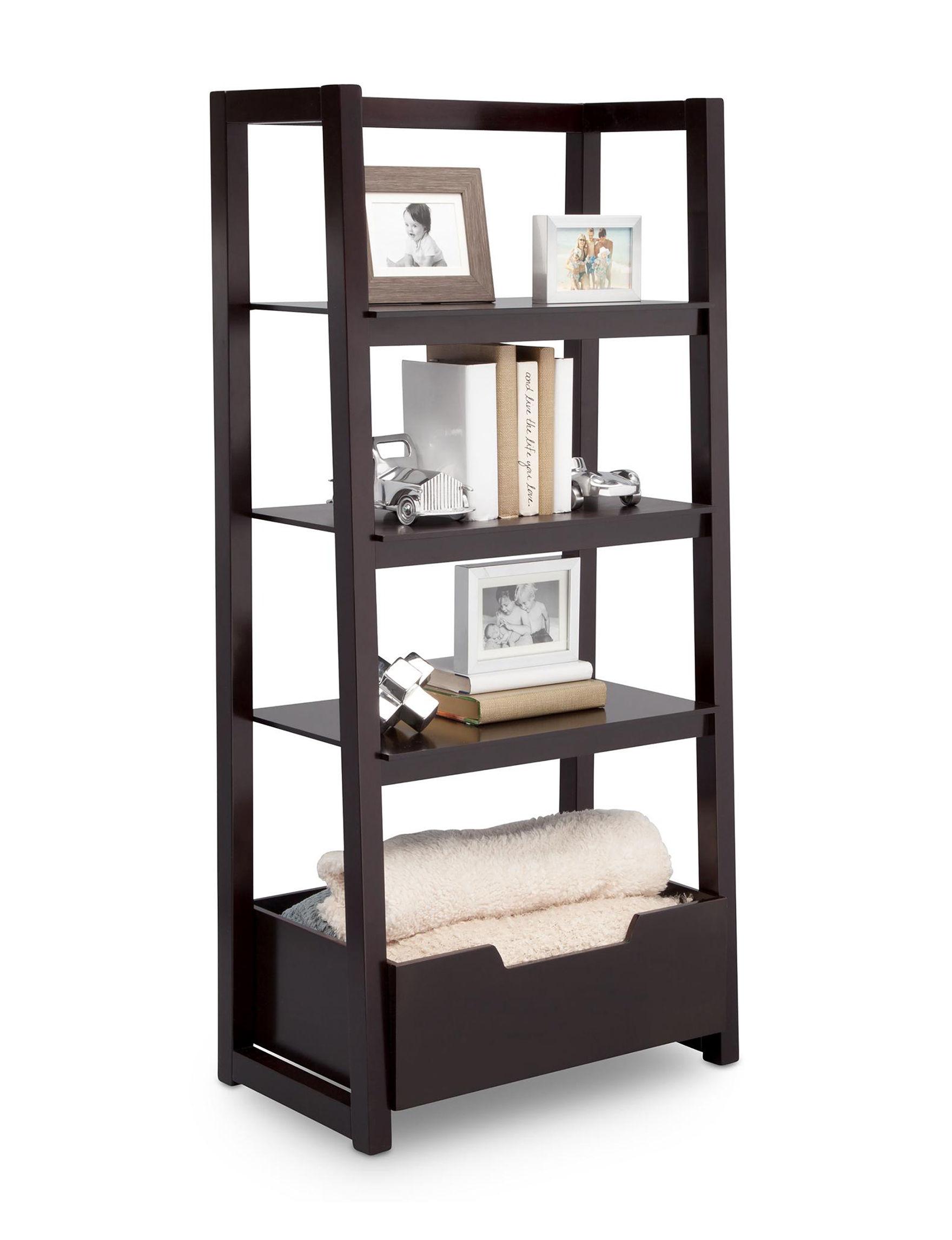 Delta Dark Chocolate Bookcases & Shelves Bedroom Furniture